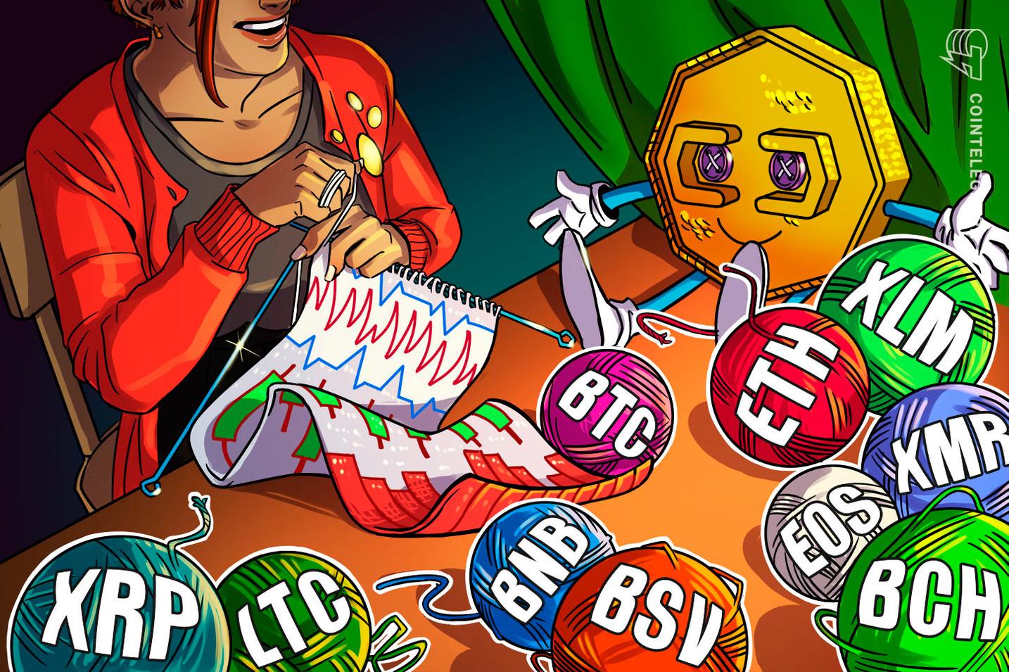 Análisis de precios al 6 de enero: BTC, ETH, XRP, BCH, LTC, EOS, BNB, BSV, XLM, XMR