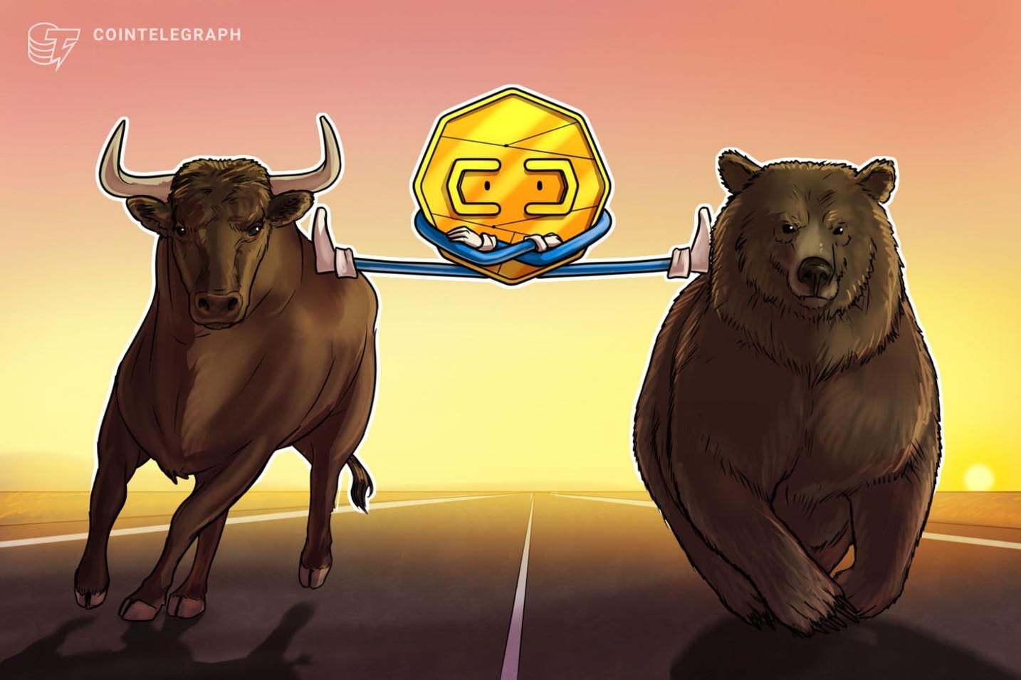 仮想通貨ビットコイン、「強気レジーム」も1万ドルに強力なレジスタンス