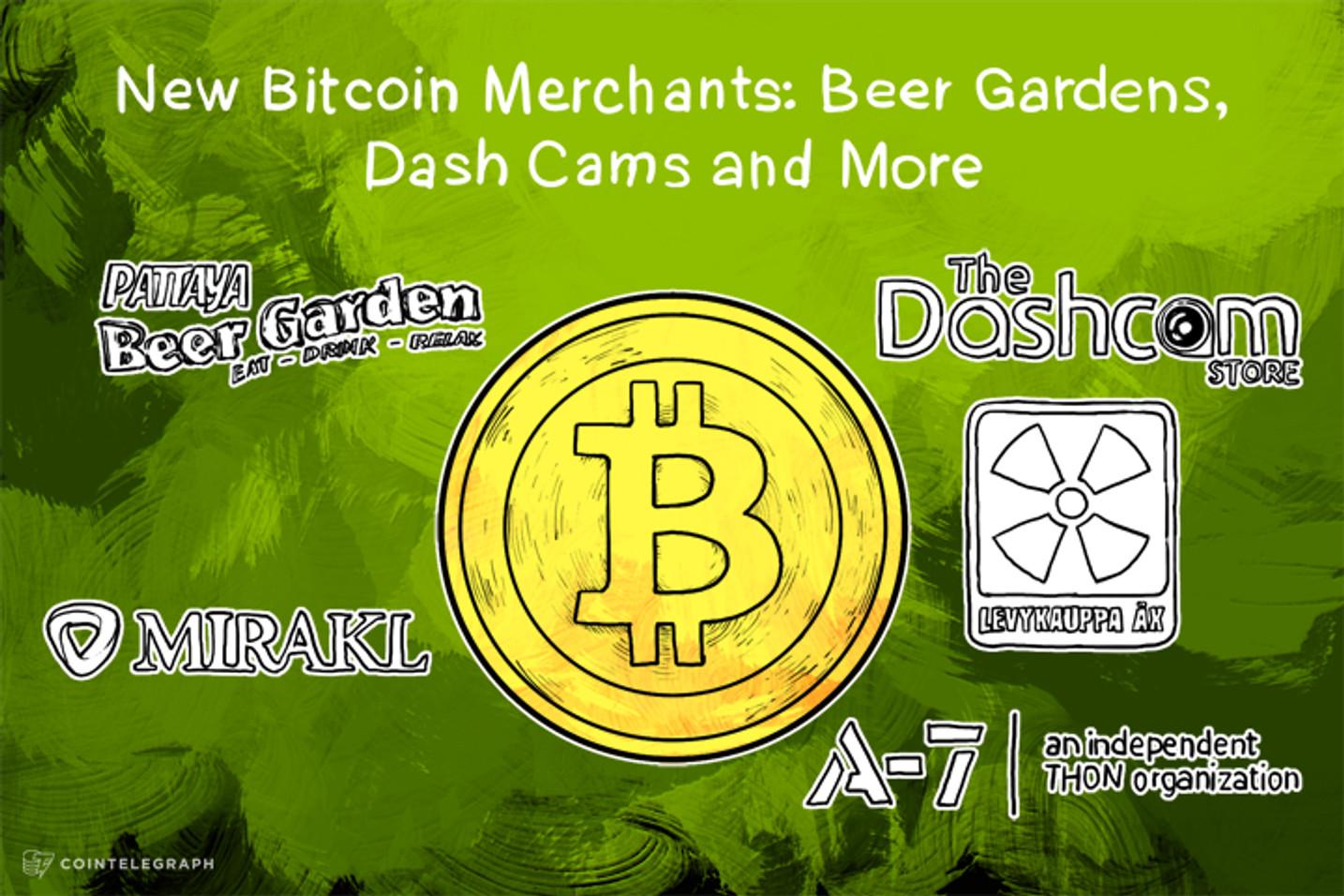 New Bitcoin Merchants: Beer Gardens, Dash Cams and More