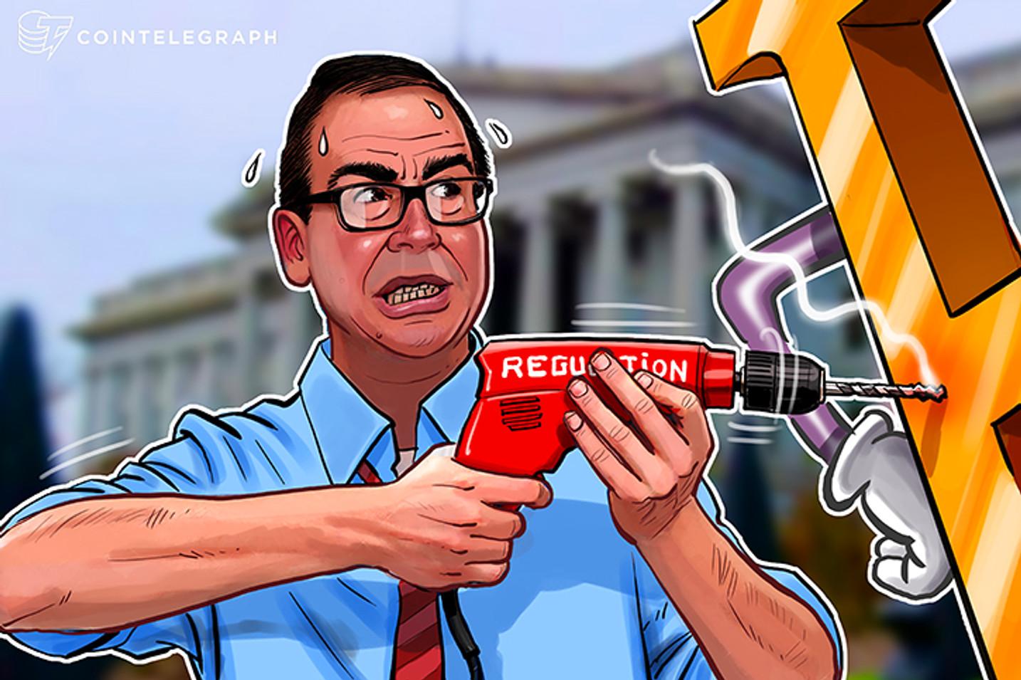 Secretário do tesouro dos EUA aborda anonimato, sanções e moedas digitais