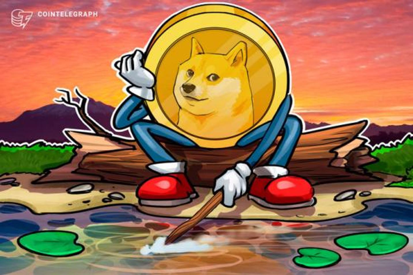 Preço da Dogecoin está 'por um fio' de cair mais de 35%, destaca analista