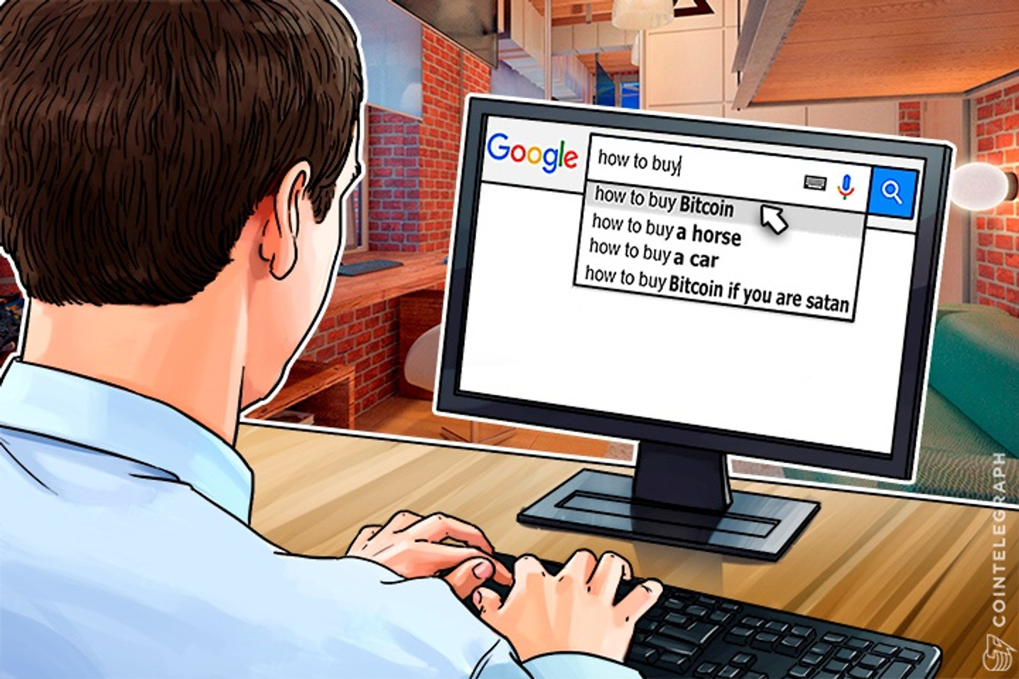 """Search For """"Buy Bitcoin"""" Rising Shows Google Trend"""