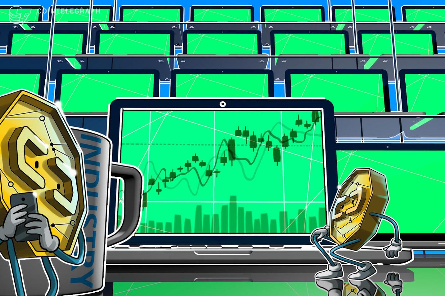 Bitcoin encosta nos US$ 3.750 e as principais criptos têm ganhos moderados