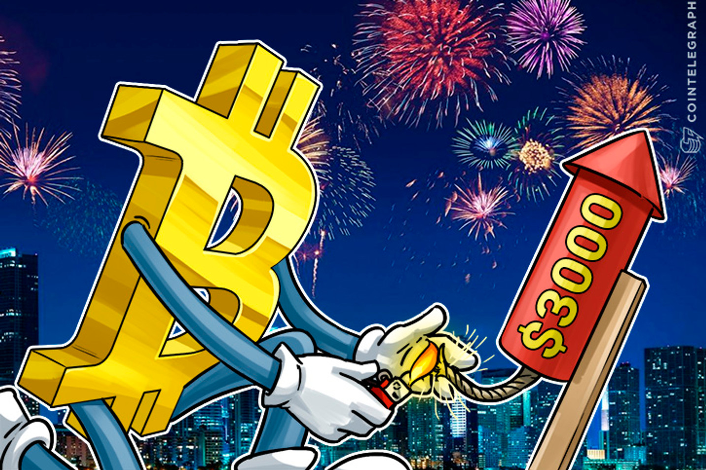 Bitcoin Price Hits New All-Time High at $2,933, Closing on $3,000
