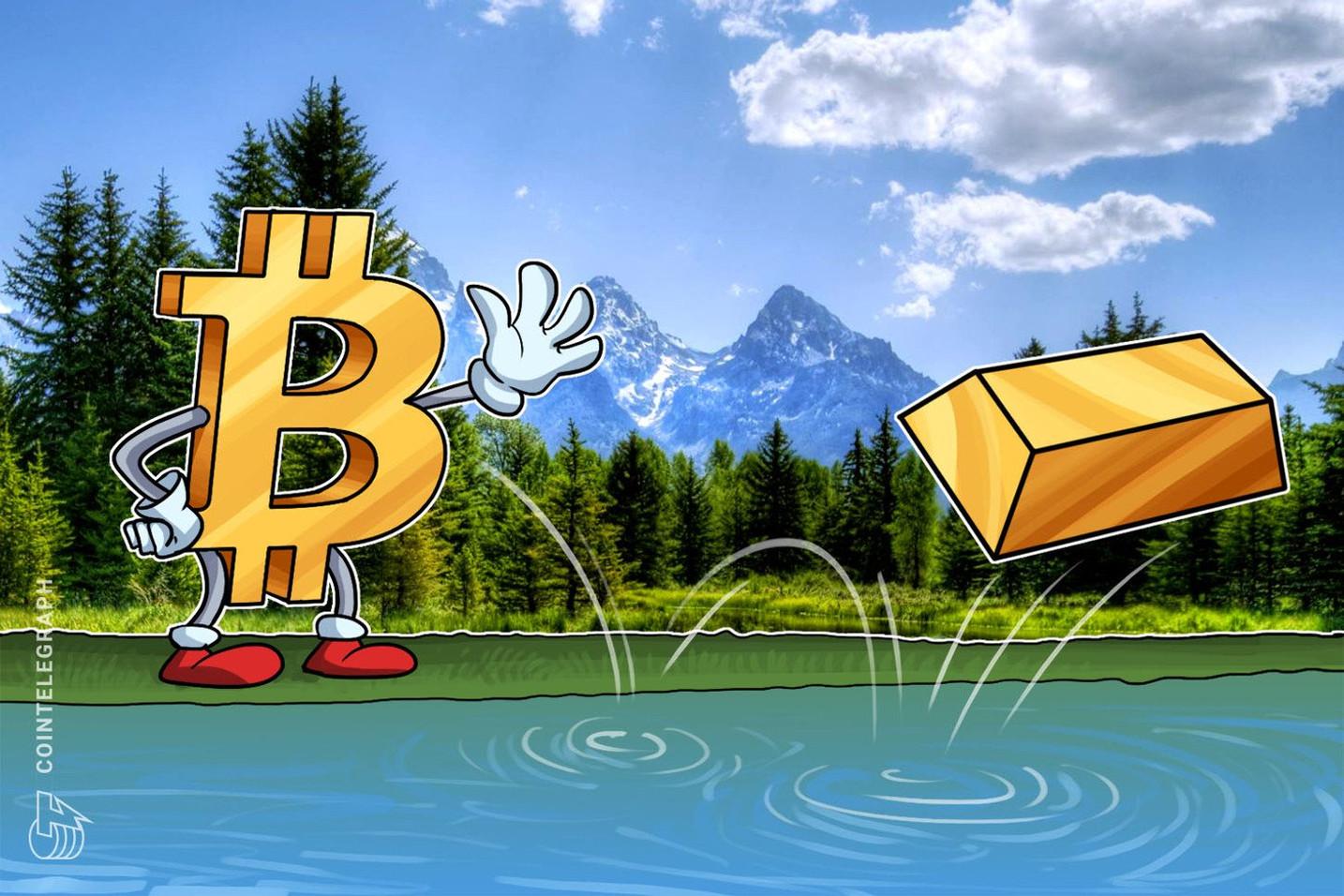 10000ドル回復の仮想通貨ビットコイン、今後は金の動きが重要に
