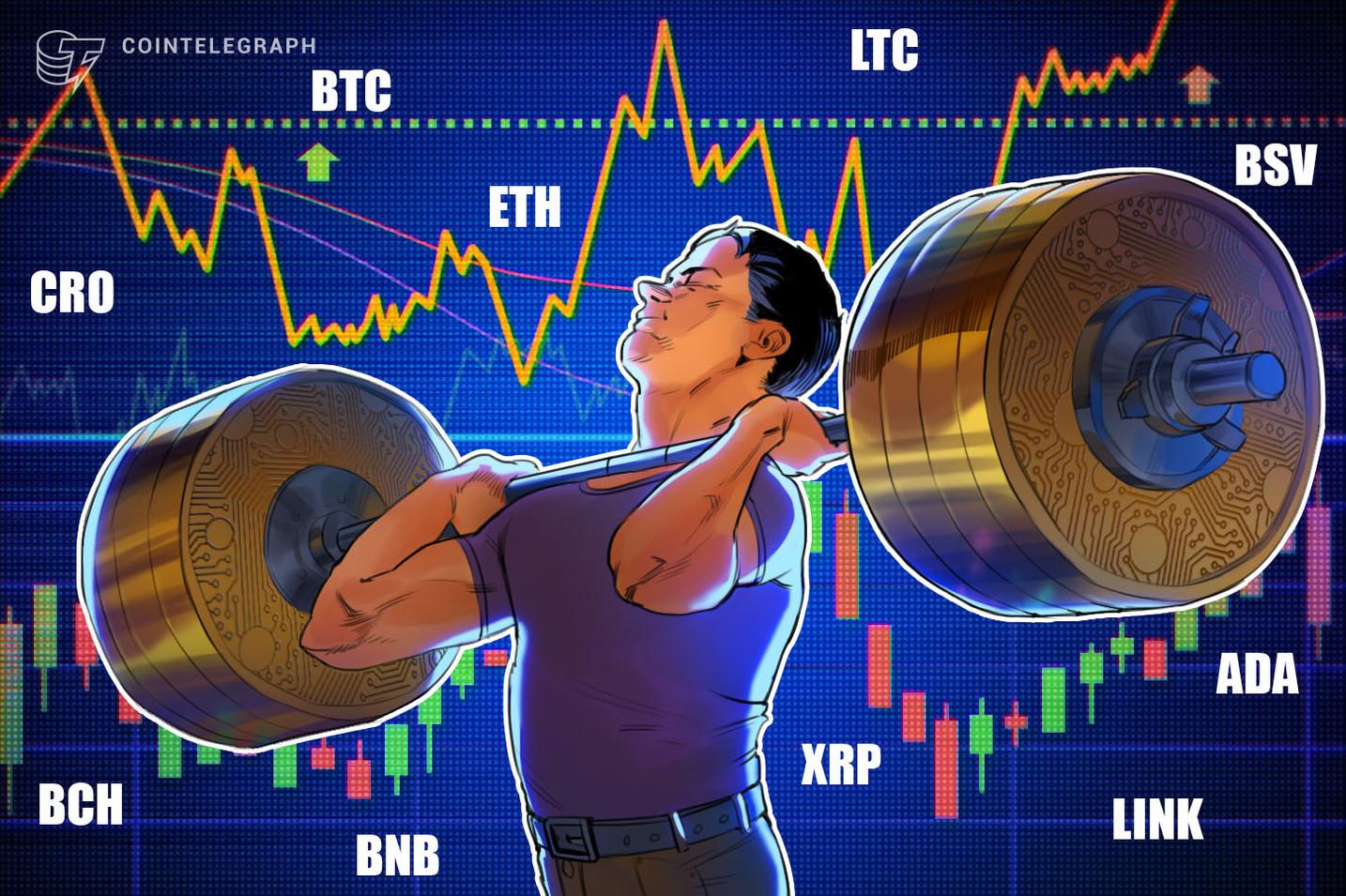 Análisis de precios del 26 de agosto: BTC, ETH, XRP, LINK, BCH, LTC, BSV, CRO, BNB, ADA