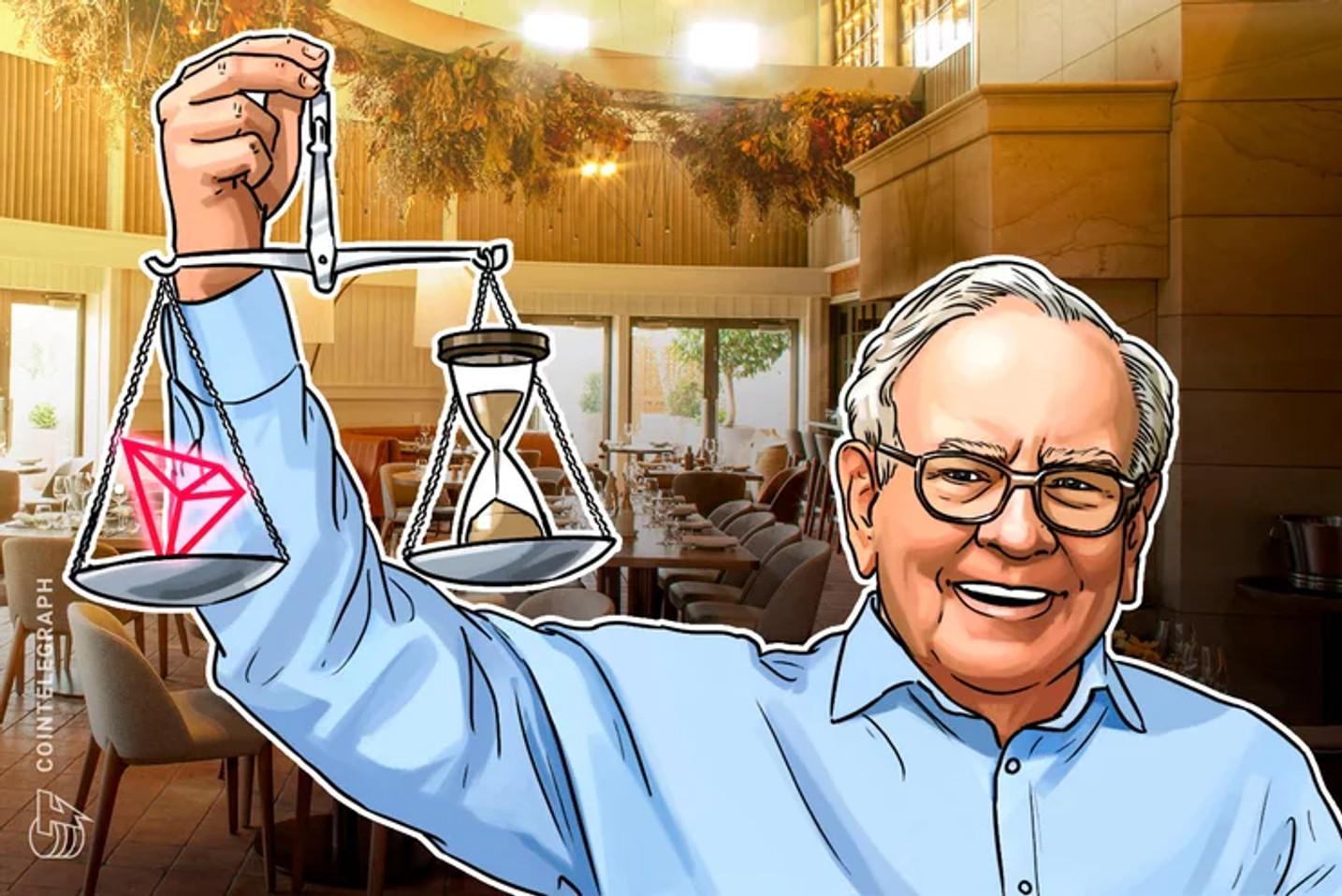 Justin Sun da Tron vence leilão de caridade no eBay em oferta de US $ 4,57 milhões para almoço com Warren Buffett