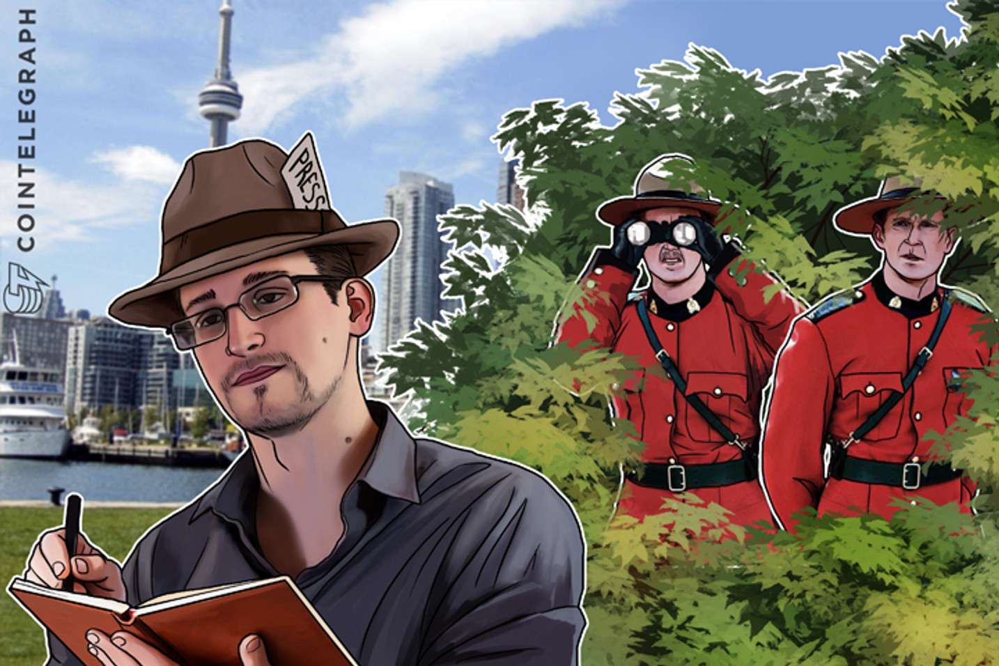 """Snowden: Canada Police Spying on Journalists """"Unsettling"""""""