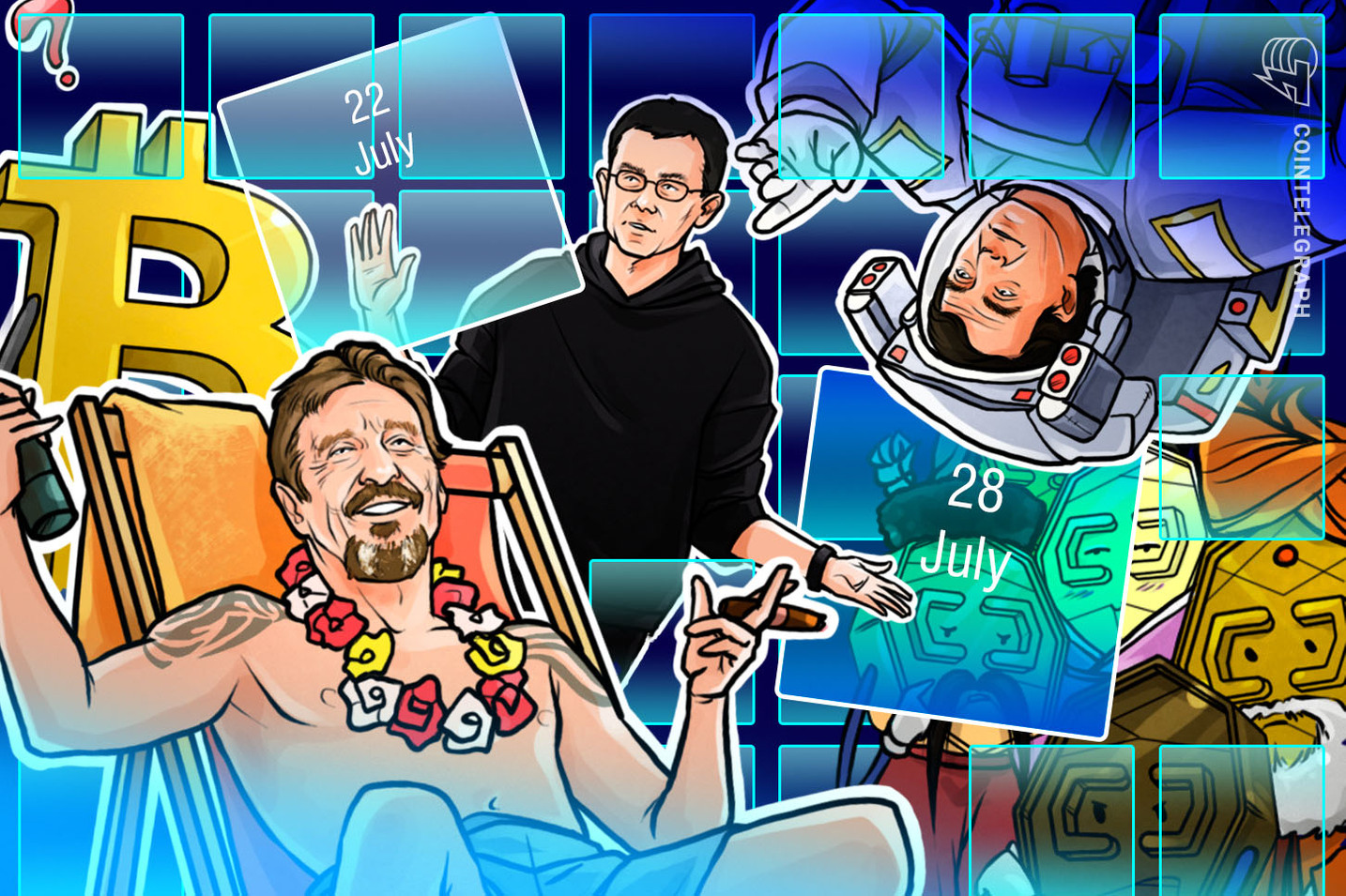 Hodler's Digest, July 22–28: Libra Doubts, Bitcoin Slumps, McAfee Behind Bars