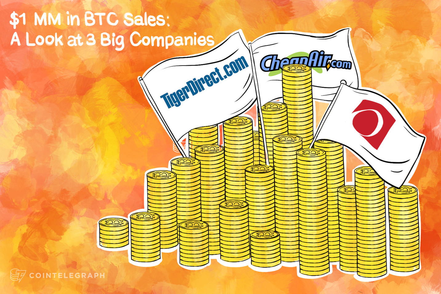 $1 MM in BTC Sales: A Look at 3 Big Companies
