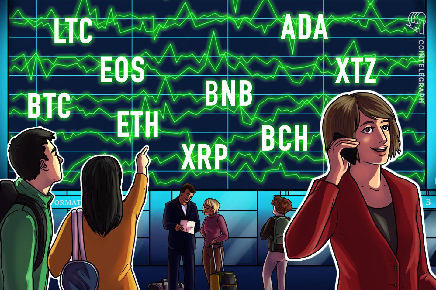 Price Analysis Feb 14: BTC, ETH, XRP, BCH, BSV, LTC, EOS, BNB, XTZ, ADA