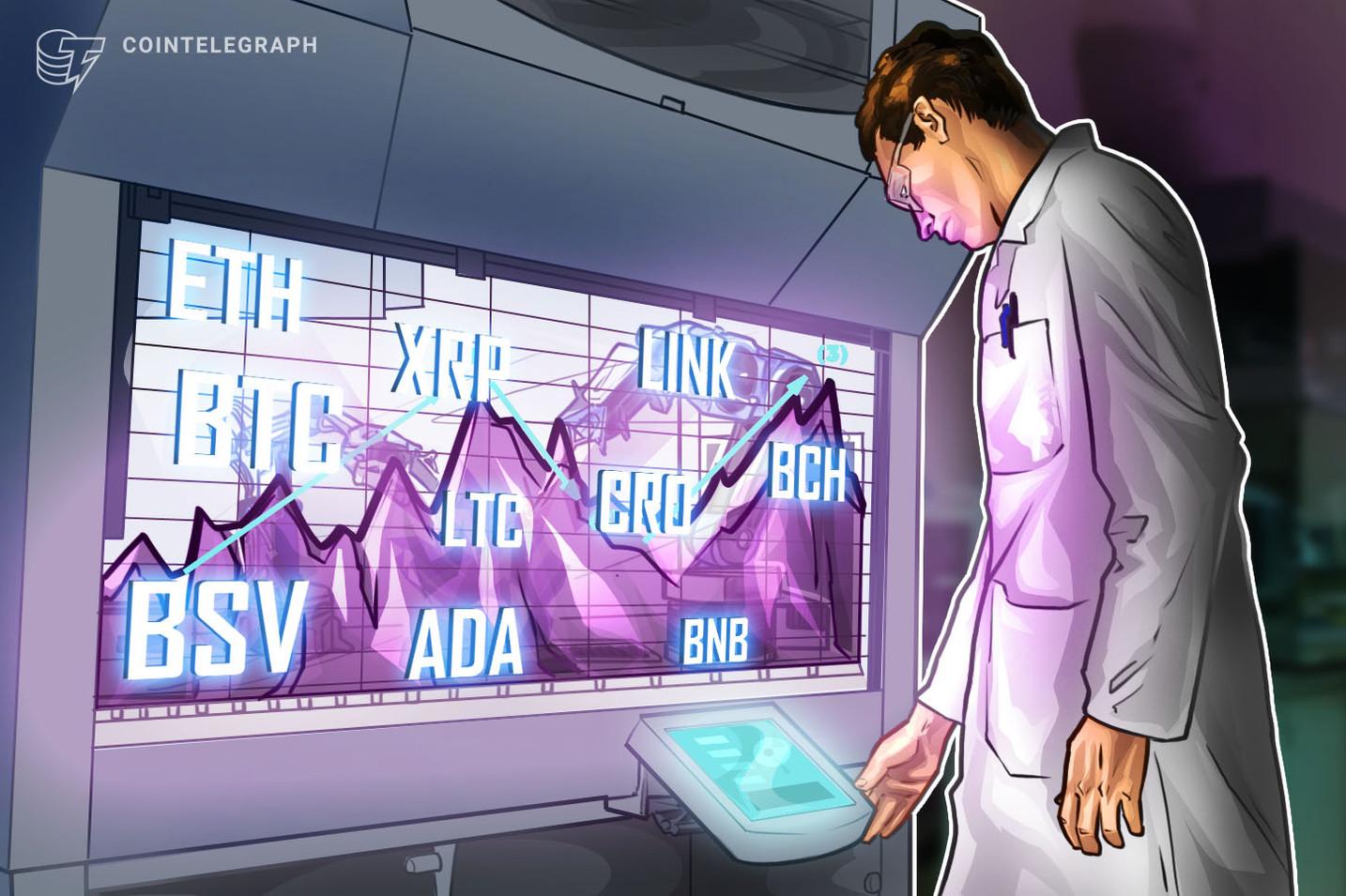 Análisis de precios al 22/7: BTC, ETH, XRP, BCH, BSV, ADA, LTC, CRO, LINK, BNB
