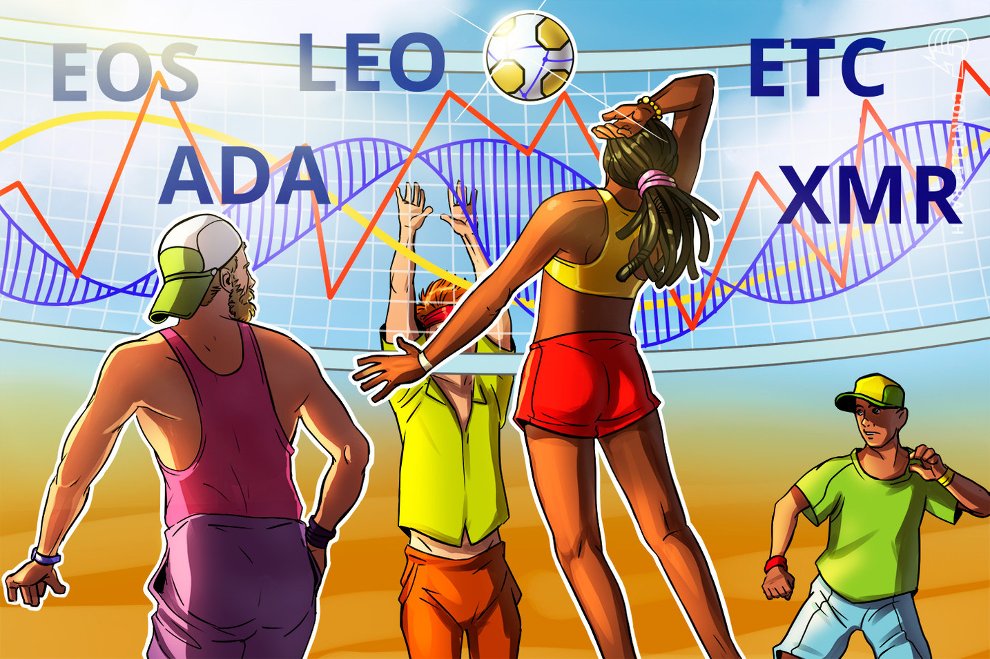 Top-5 Crypto Performers: EOS,  LEO, ETC, ADA, XMR