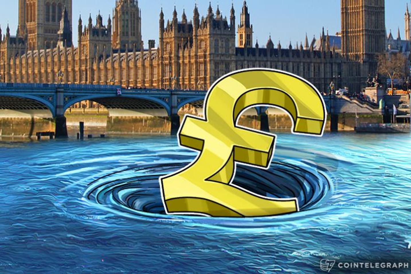Kako britanska funta nastavlja da pada, nestabilnost bitkoina se dovodi u pitanje