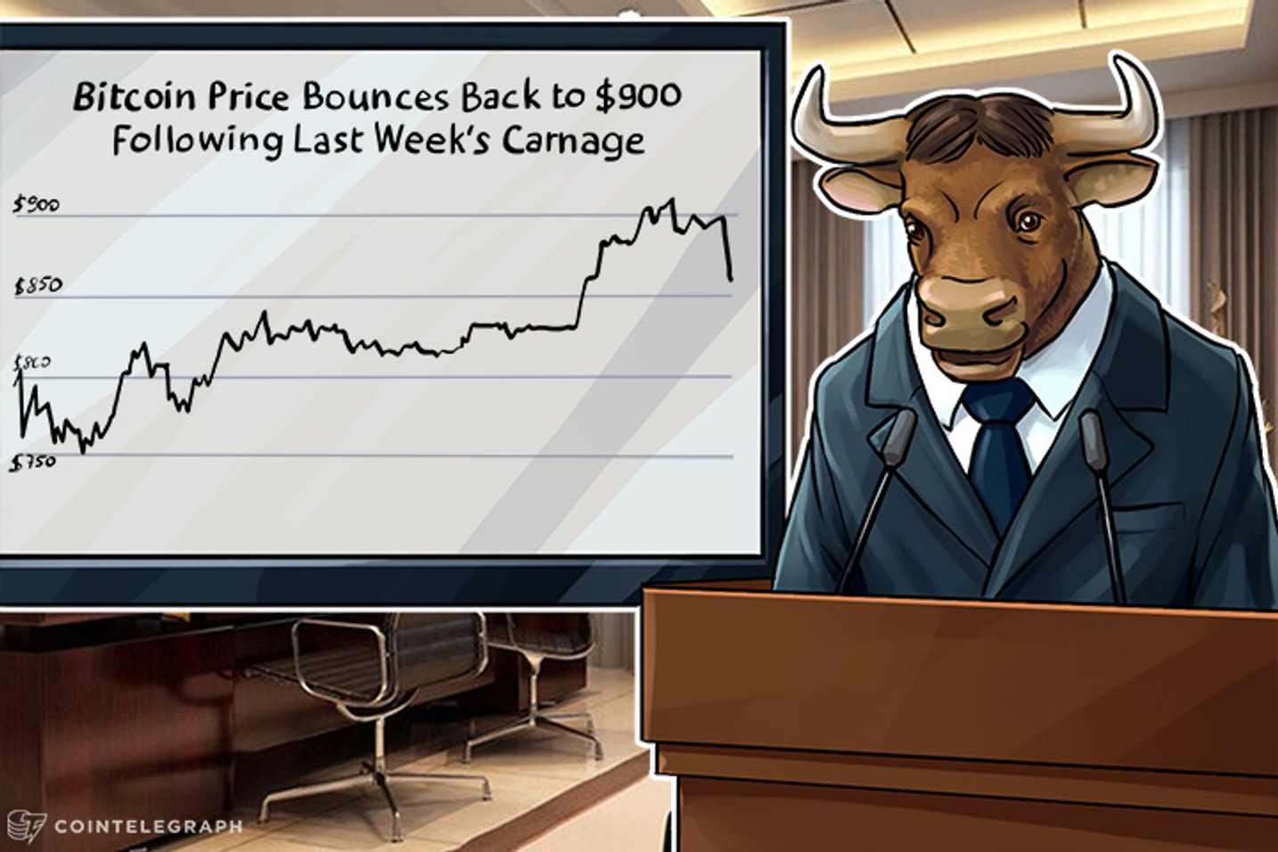 The Bitcoin Price Bounces Back to $900 Following Last Week's Carnage
