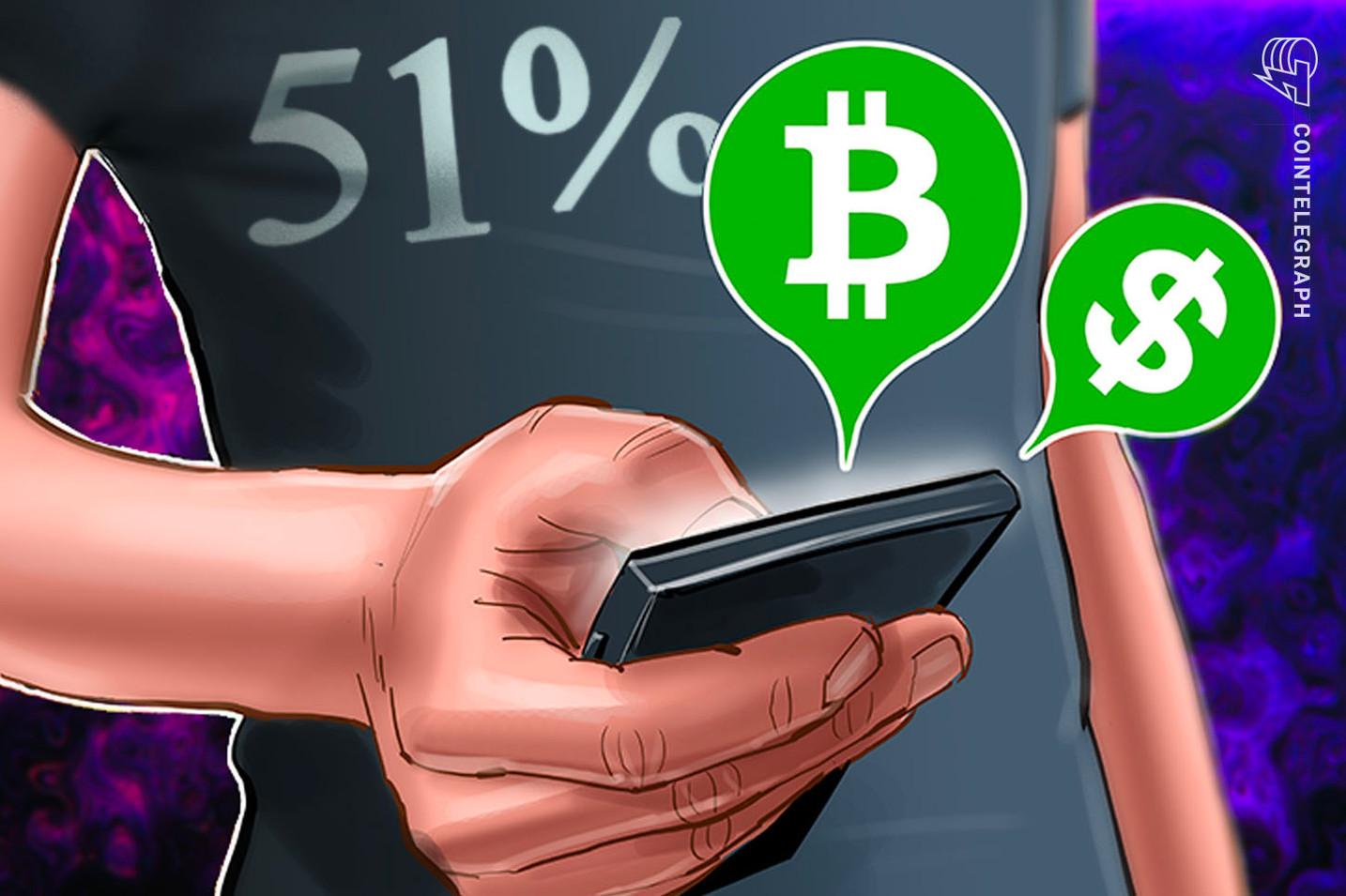 Zwei Mining-Pools führen gutartige 51% Attacke auf Bitcoin Cash Blockchain durch