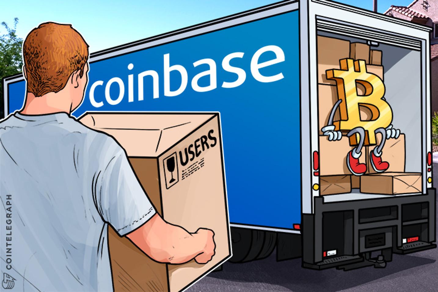 Base de usuários Bitcoin Aumenta, Coinbase Adiciona 1 Milhão de Usuários em 1 Mês  Bitcoin User Base Surges, Coinbase Adds 1 Mln Users in 1 Month