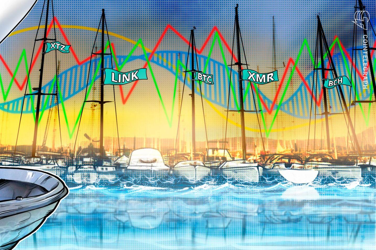 Top-5 Crypto Performers: XTZ, LINK, BTC, BCH, XMR