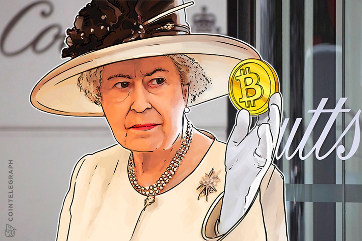 Apesar do crescimento do preço, banco da rainha ri do Bitcoin