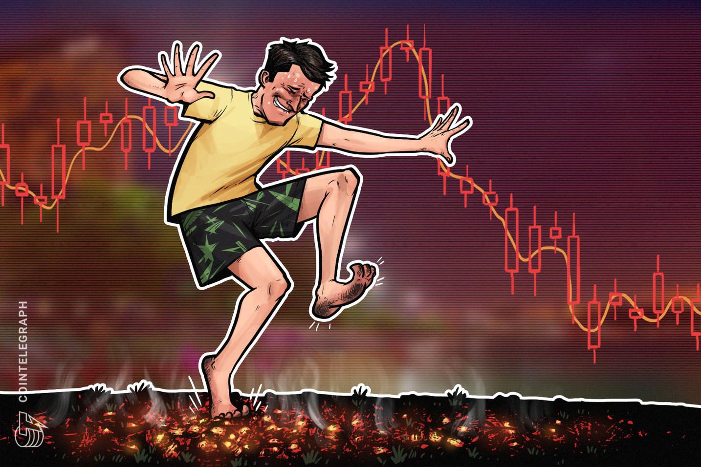 Mercati delle criptovalute in rosso, Bitcoin ancora sopra i 4.000$