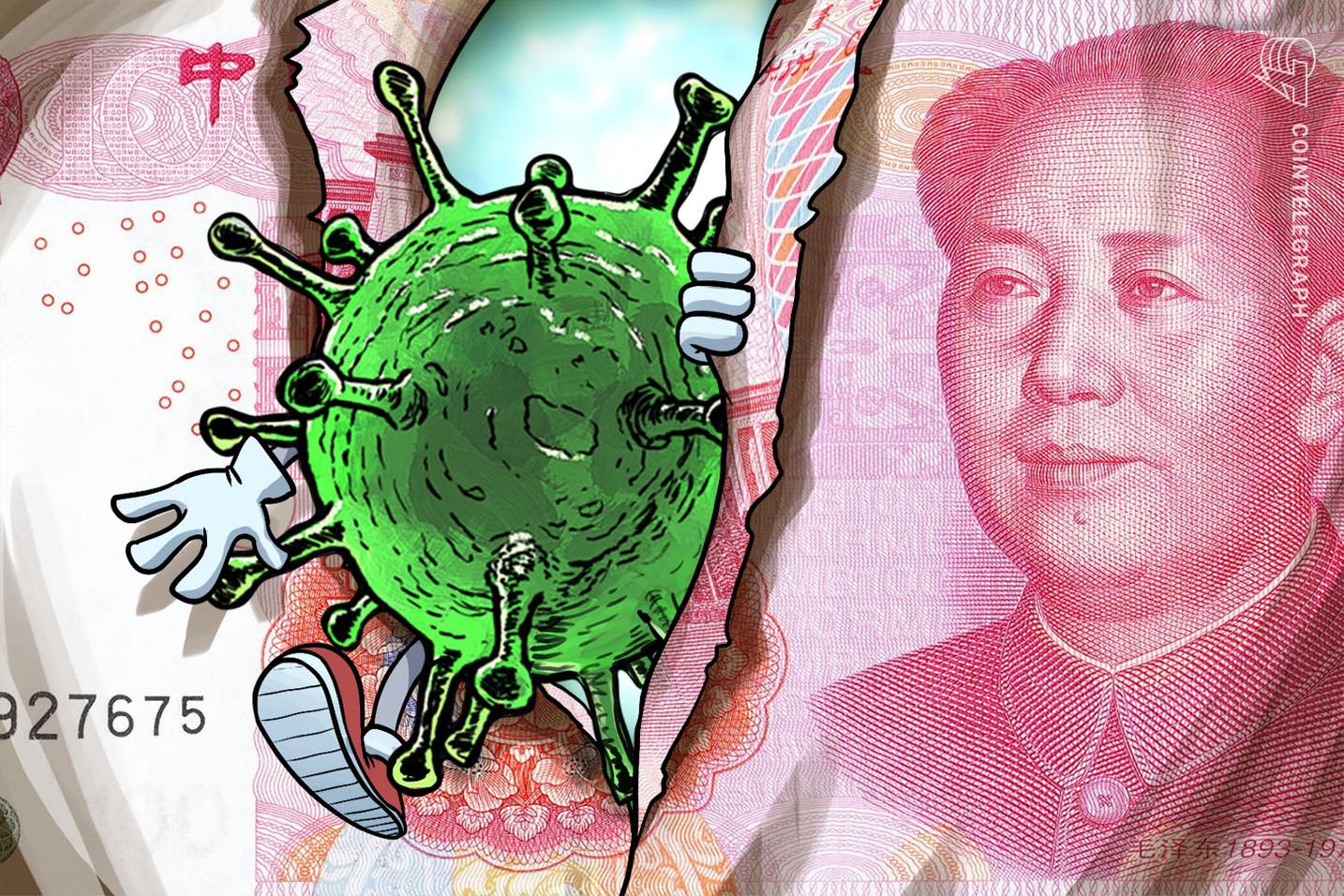 China pondría en cuarentena al dinero en efectivo para detener el coronavirus