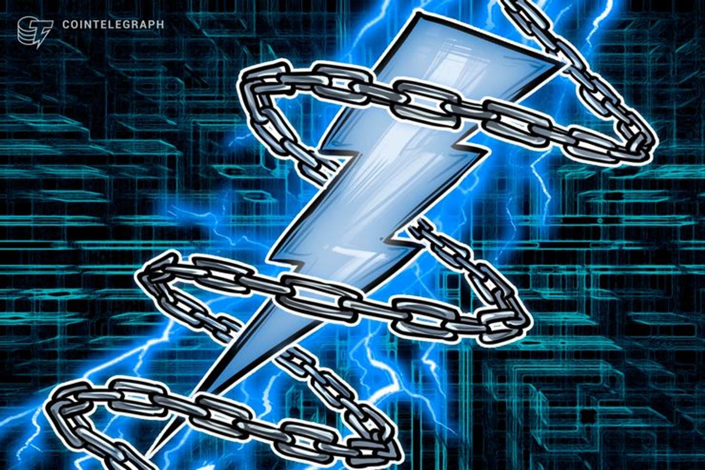 Felix Weis comprova funcionamento de ATM de Bitcoin na Lightning Network durante Lightning Hackton em Hong Kong
