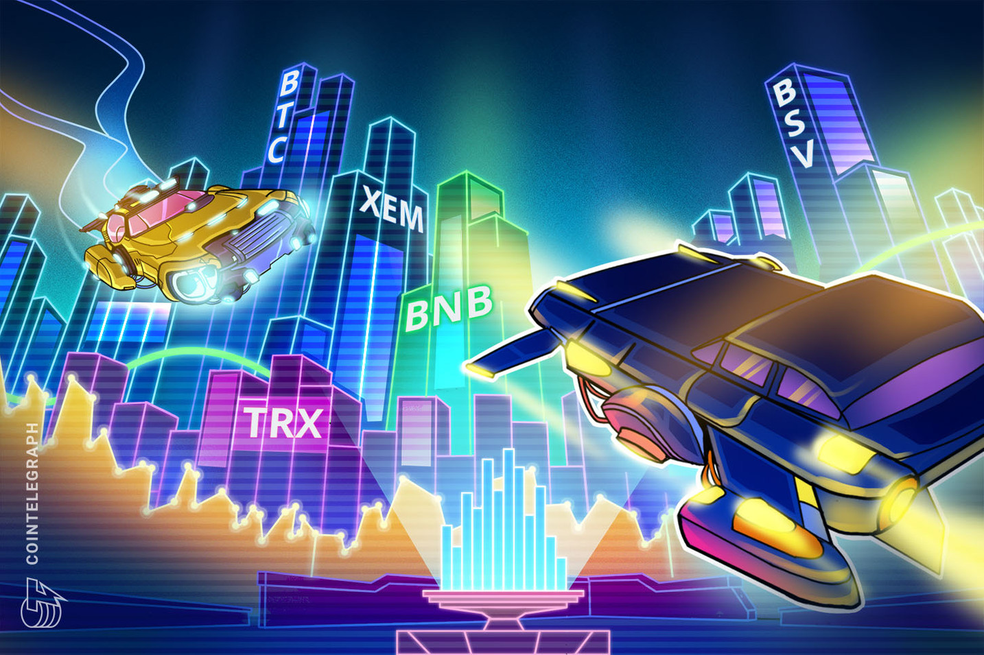 Top 5 Crypto Performers Overview: BSV, XEM, TRX, BNB, BTC