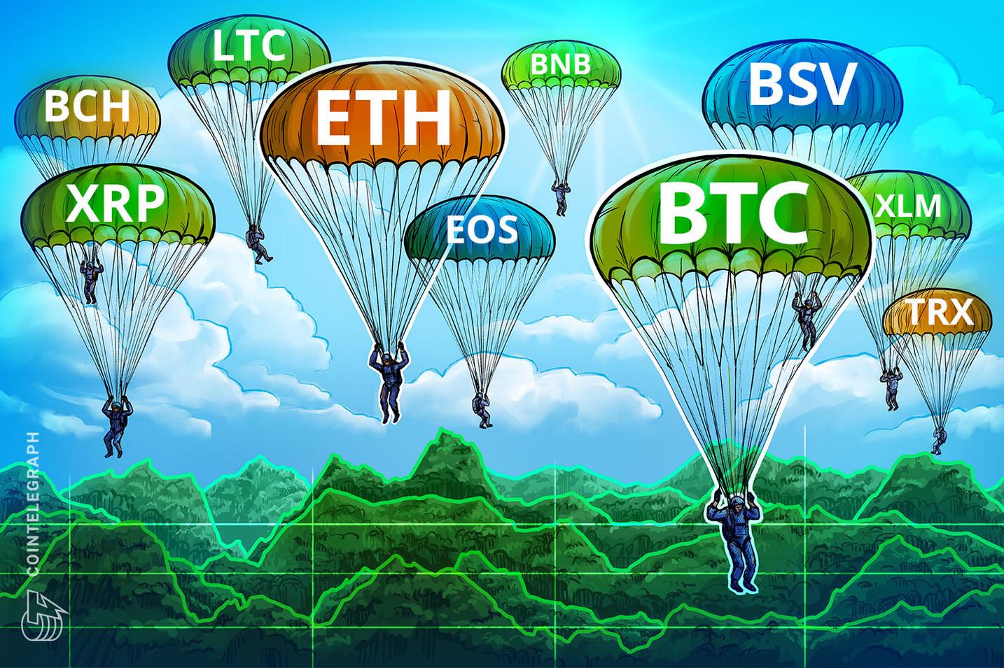 Análise de preços 27/11: BTC, ETH, XRP, BCH, LTC, EOS, BNB, BSV, XLM, TRX