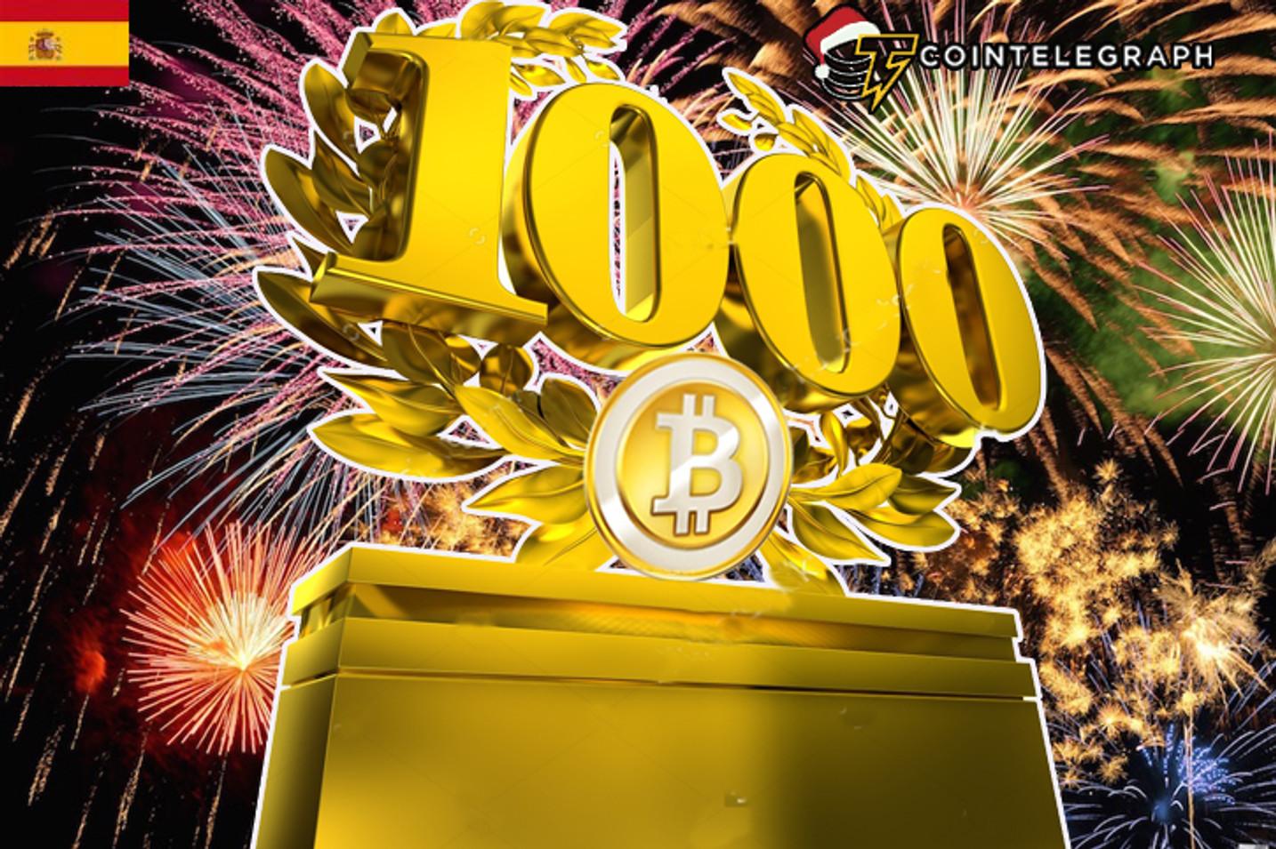 El precio del Bitcoin supera los $1000 al inicio del 2017