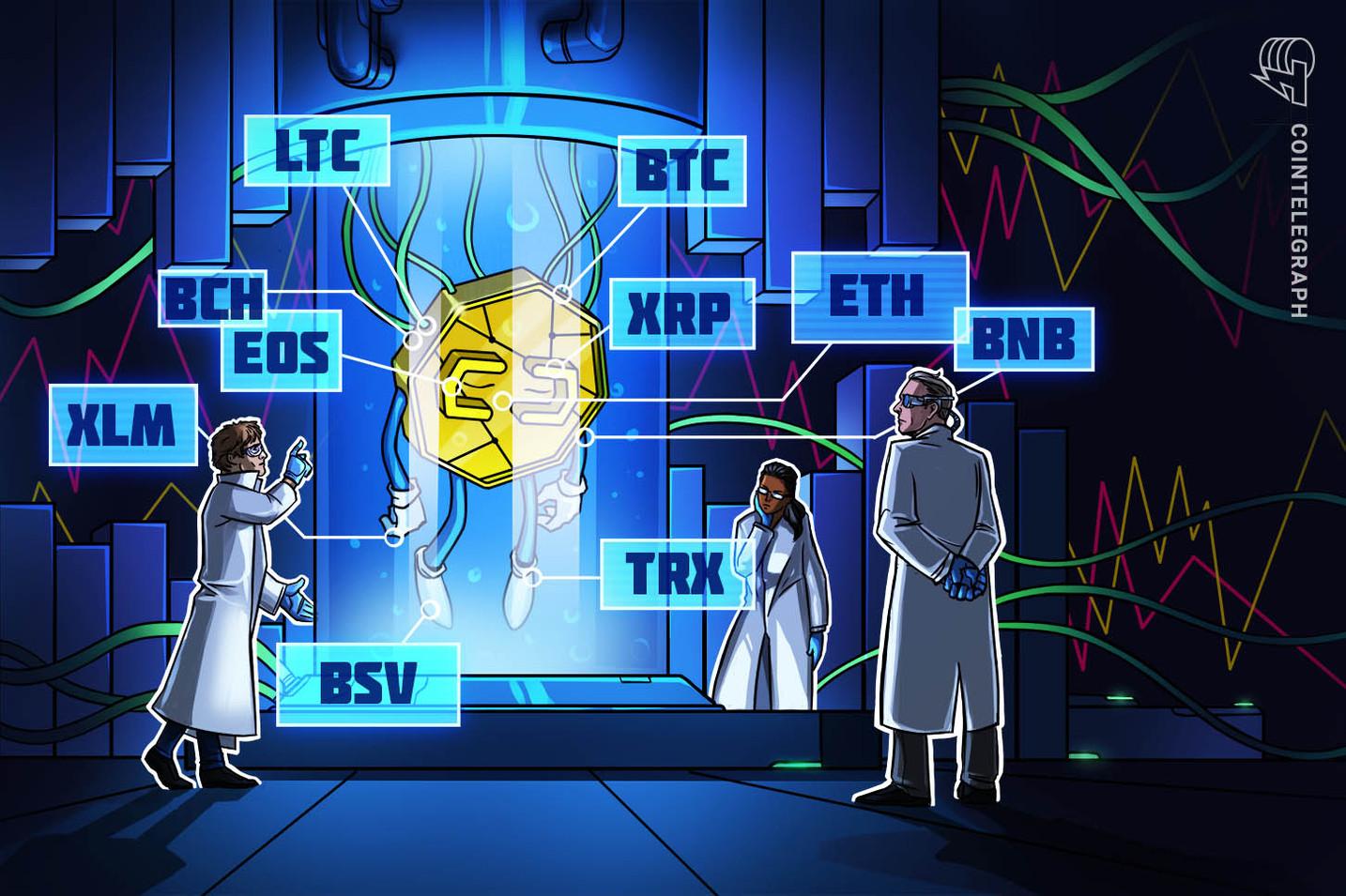 Kursanalyse, 8. Februar: Bitcoin, Ripple, Ethereum, Litecoin, EOS, Bitcoin Cash, Tron, Stellar, Binance Coin, Bitcoin SV