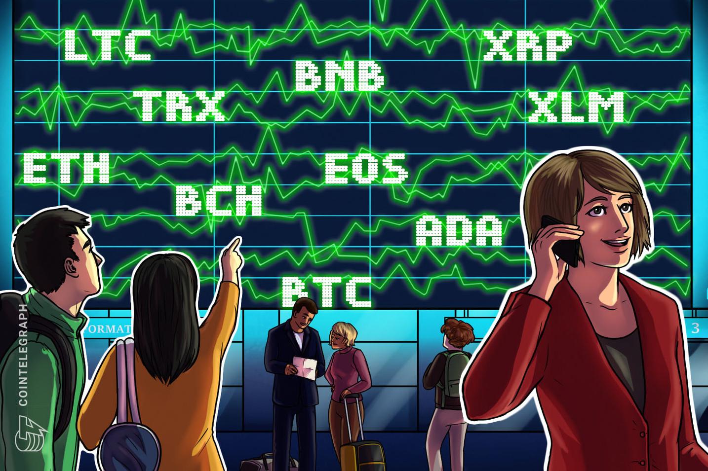 Análisis de precios al 27 de marzo: Bitcoin, Ethereum, Ripple, Litecoin, EOS, Bitcoin Cash, Binance Coin, Stellar, Cardano, Tron