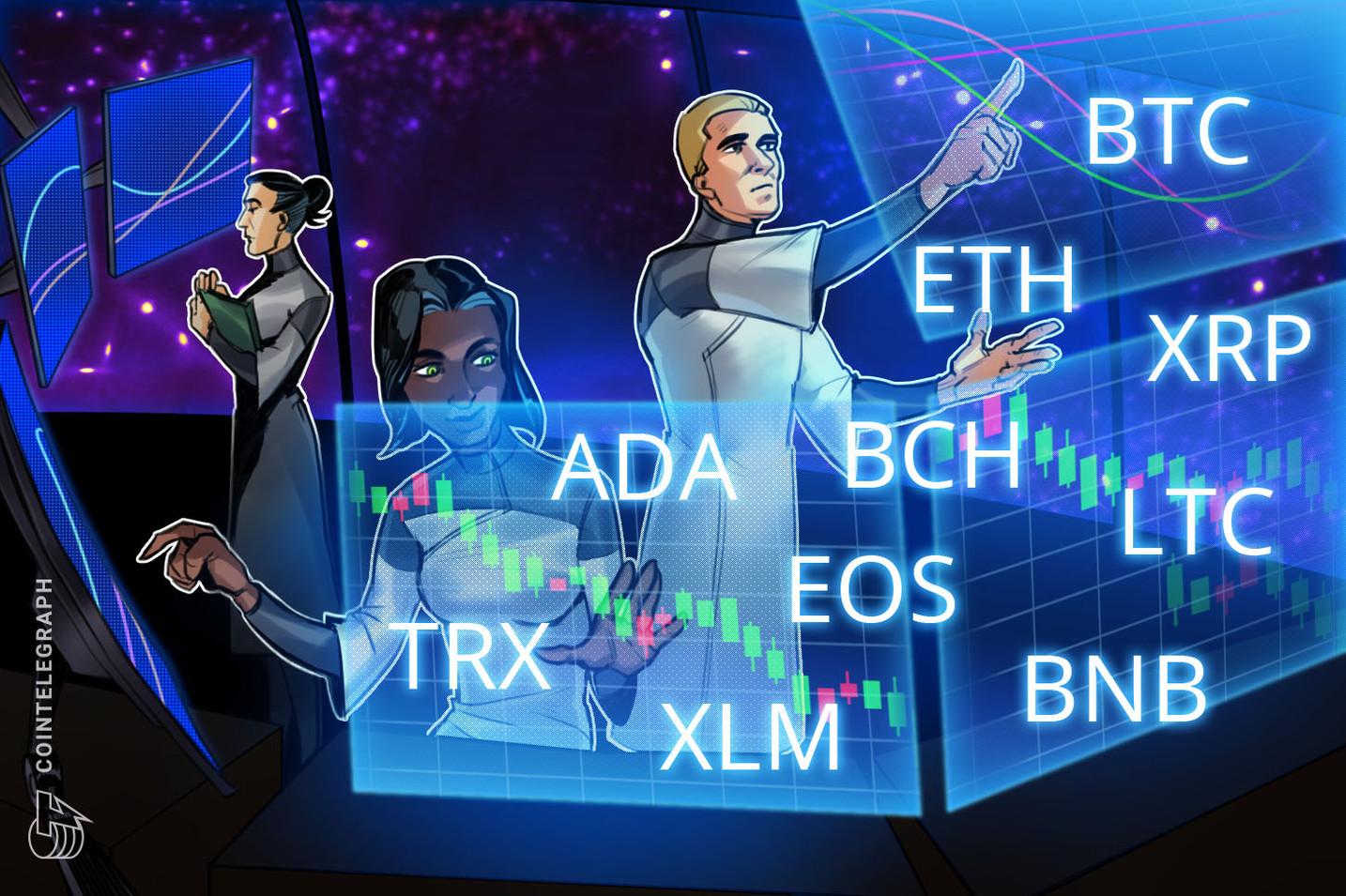 Kursanalyse, 3. Mai: Bitcoin, Ethereum, Ripple, Bitcoin Cash, Litecoin, EOS, Binance Coin, Stellar, Cardano, TRON