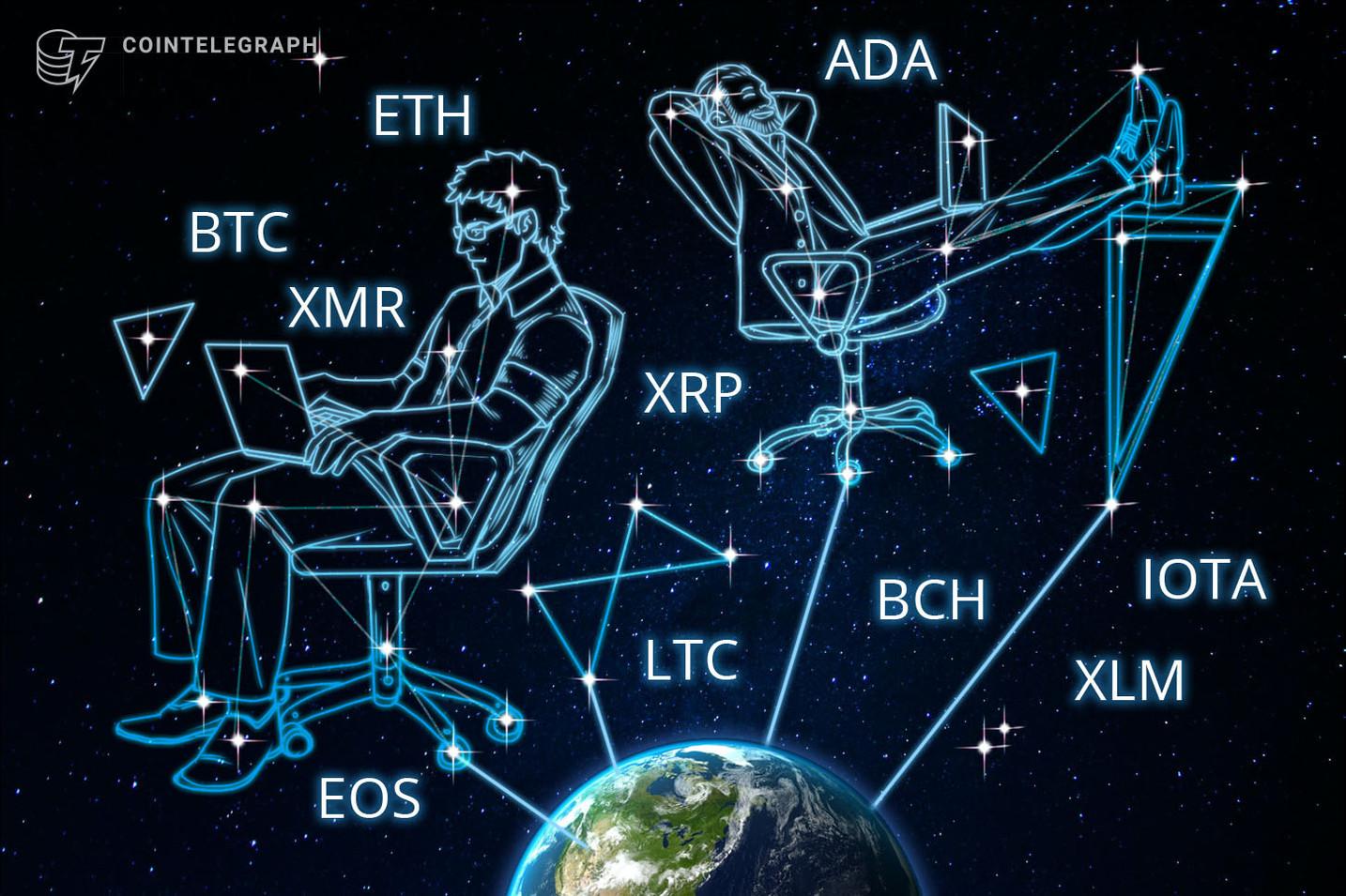 Bitcoin, Ethereum, Ripple, Bitcoin Cash, EOS, Stellar, Litecoin, Cardano, Monero, IOTA: Analisi dei prezzi, 20 agosto