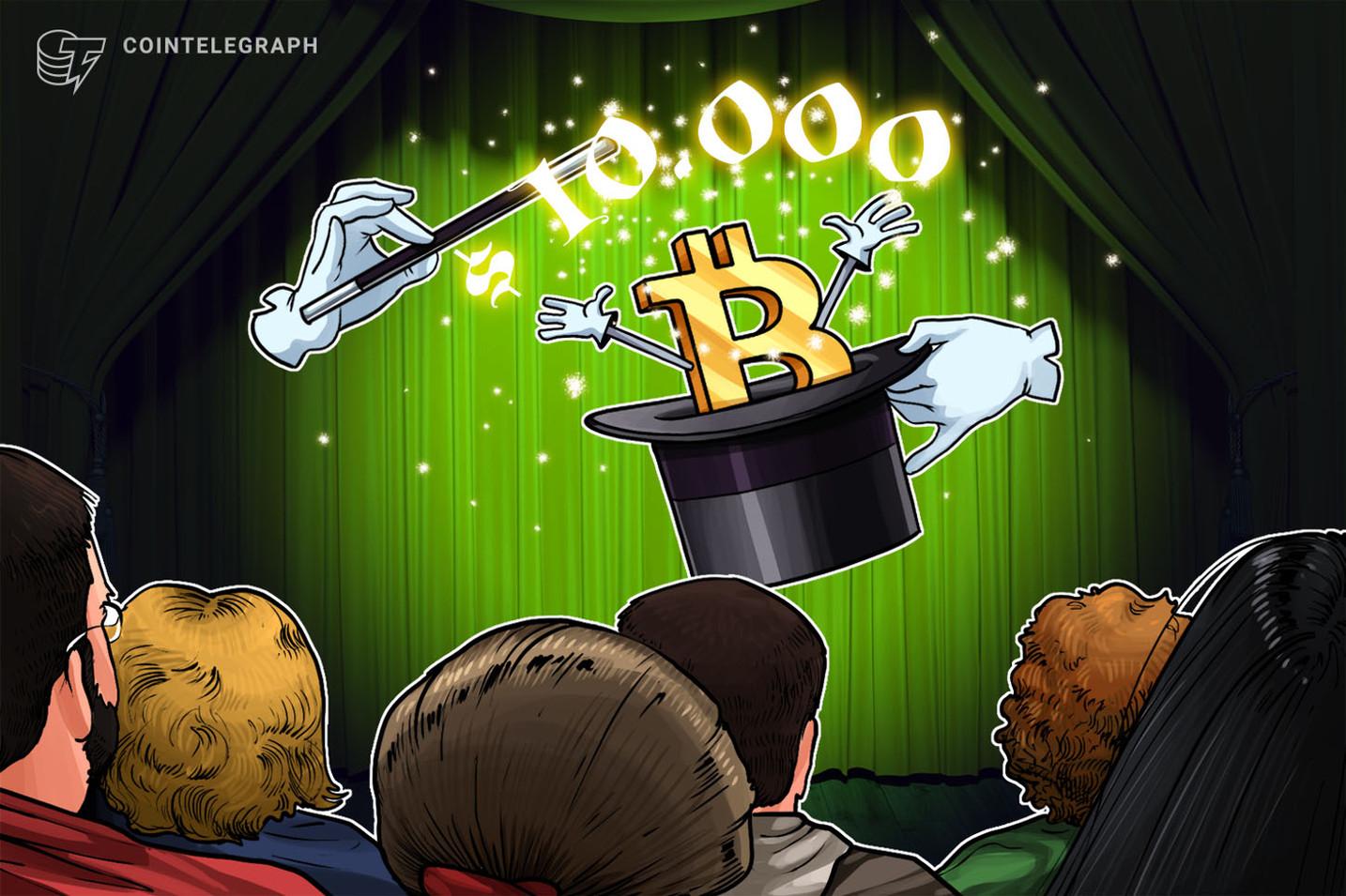 【速報】仮想通貨ビットコイン、ついに1万ドル突破|XRP、ETHも連れ高
