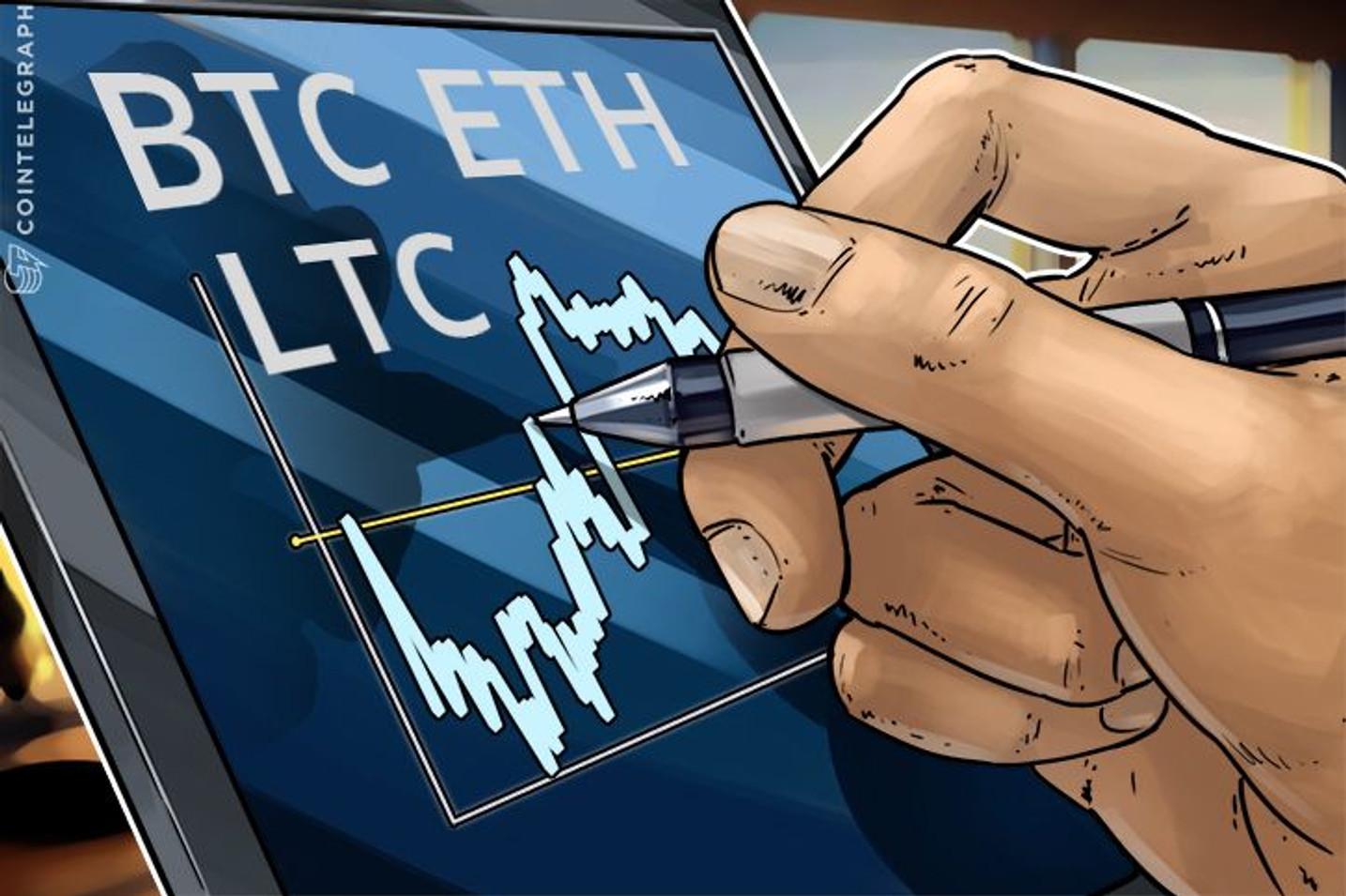 Revisión de precios: Bitcoin, Ethereum, Litecoin