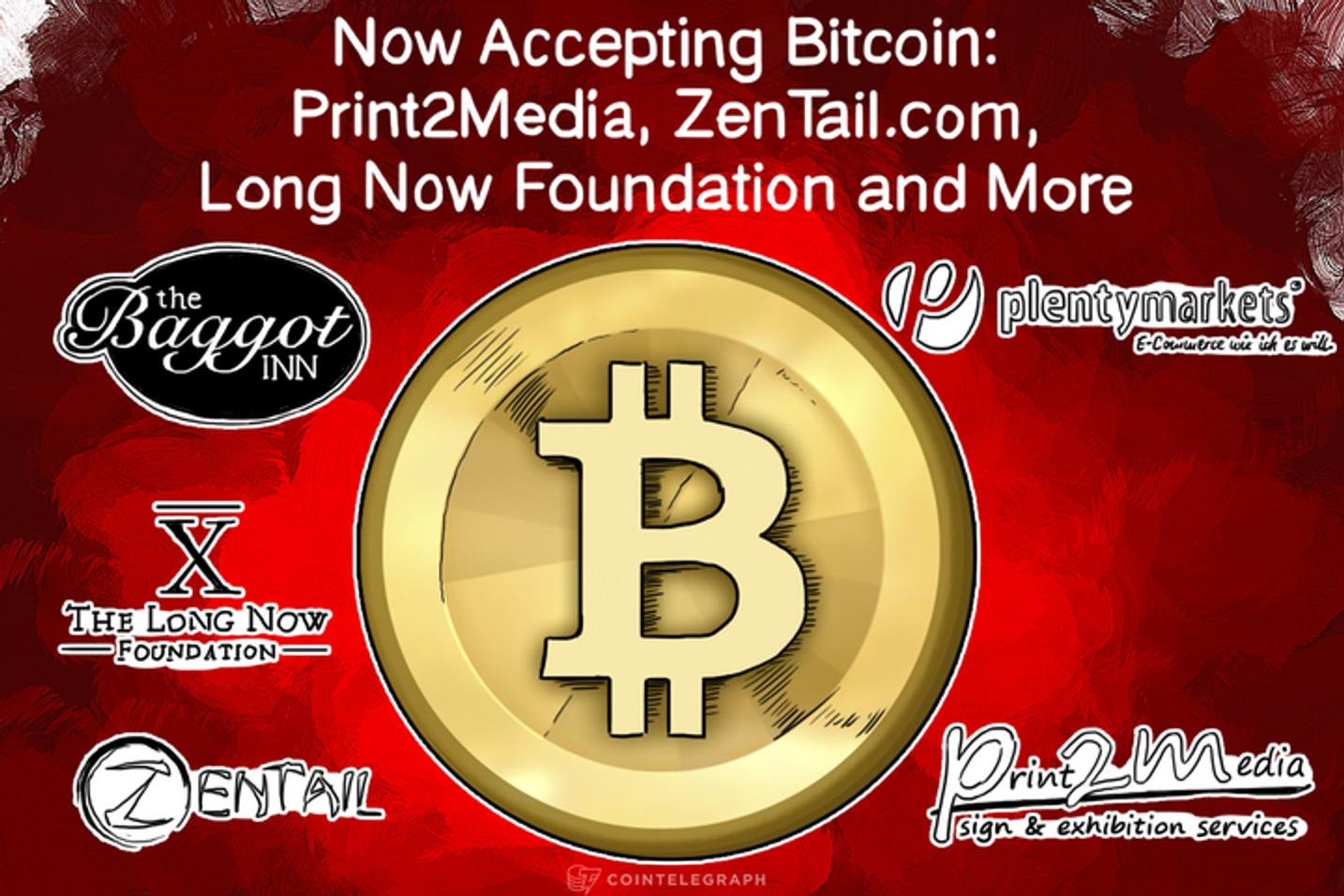 Now Accepting Bitcoin: Print2Media, ZenTail.com, Long Now Foundation and More