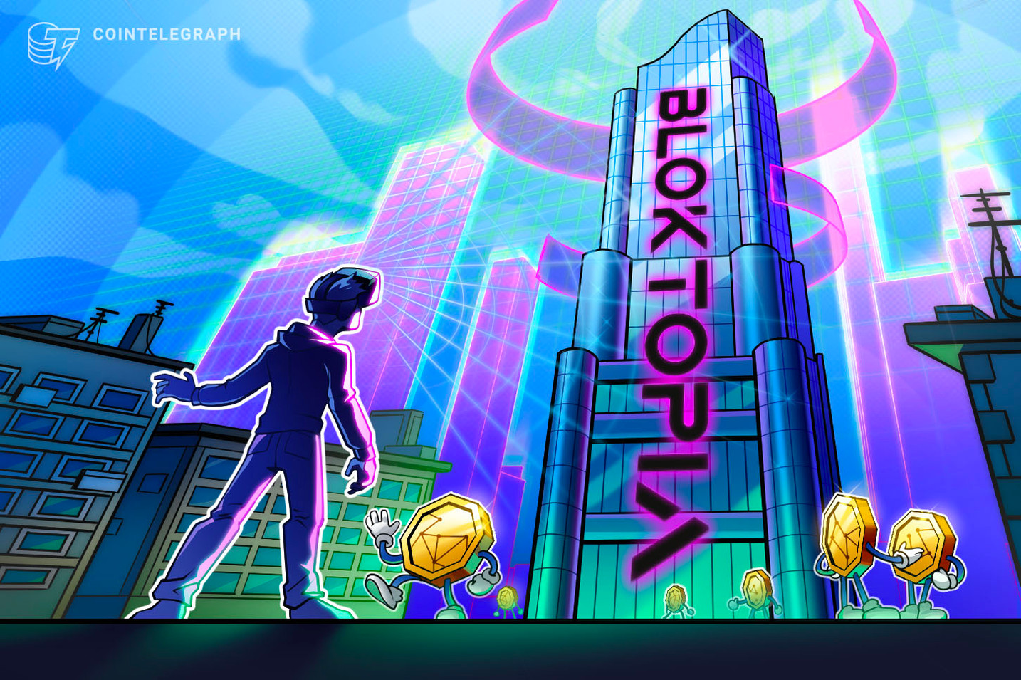 Bloktopia, a VR metaverse, partners with Animoca Brands, Jake Paul and Bitboy to give users access to crypto information