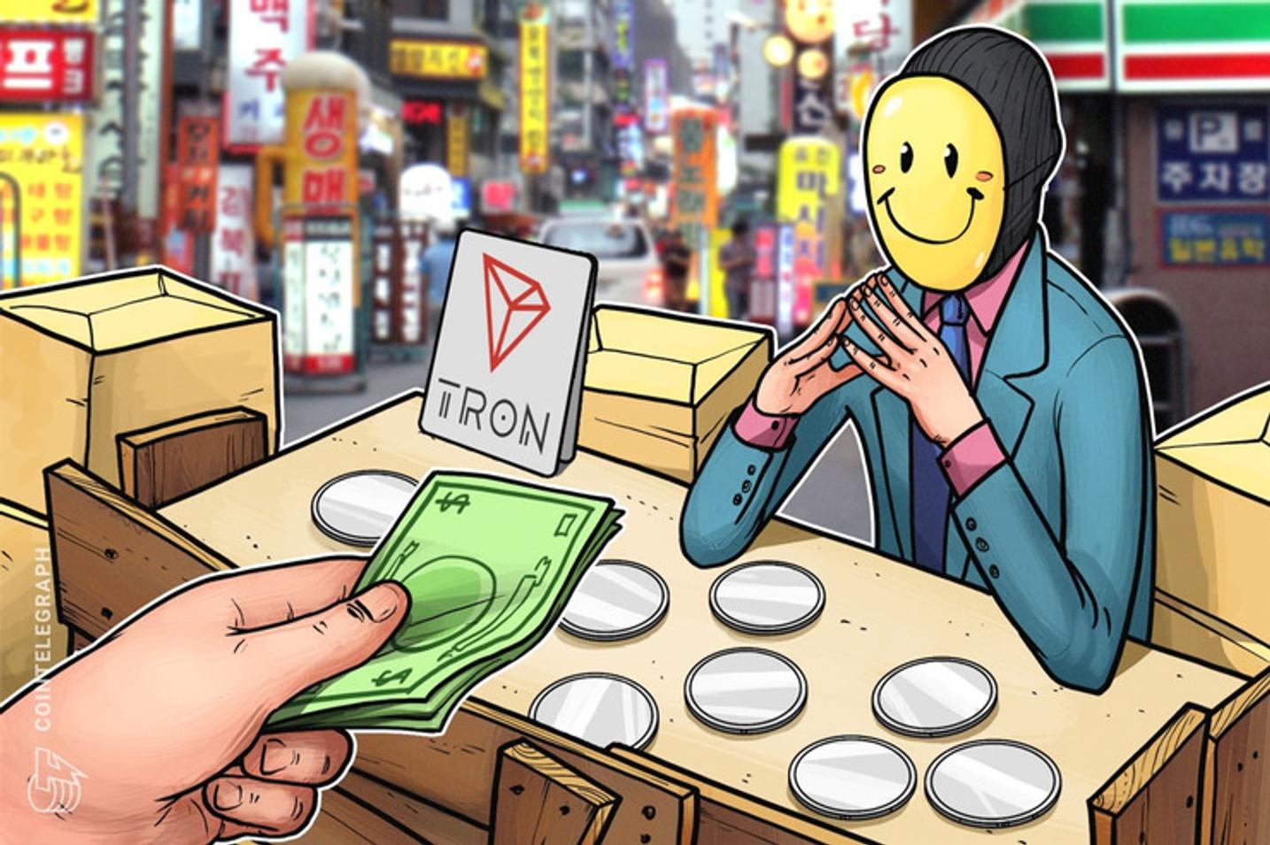 El precio de Tron (TRX) sube a medida que se conocen noticias positivas alrededor de la criptomoneda de Justin Sun