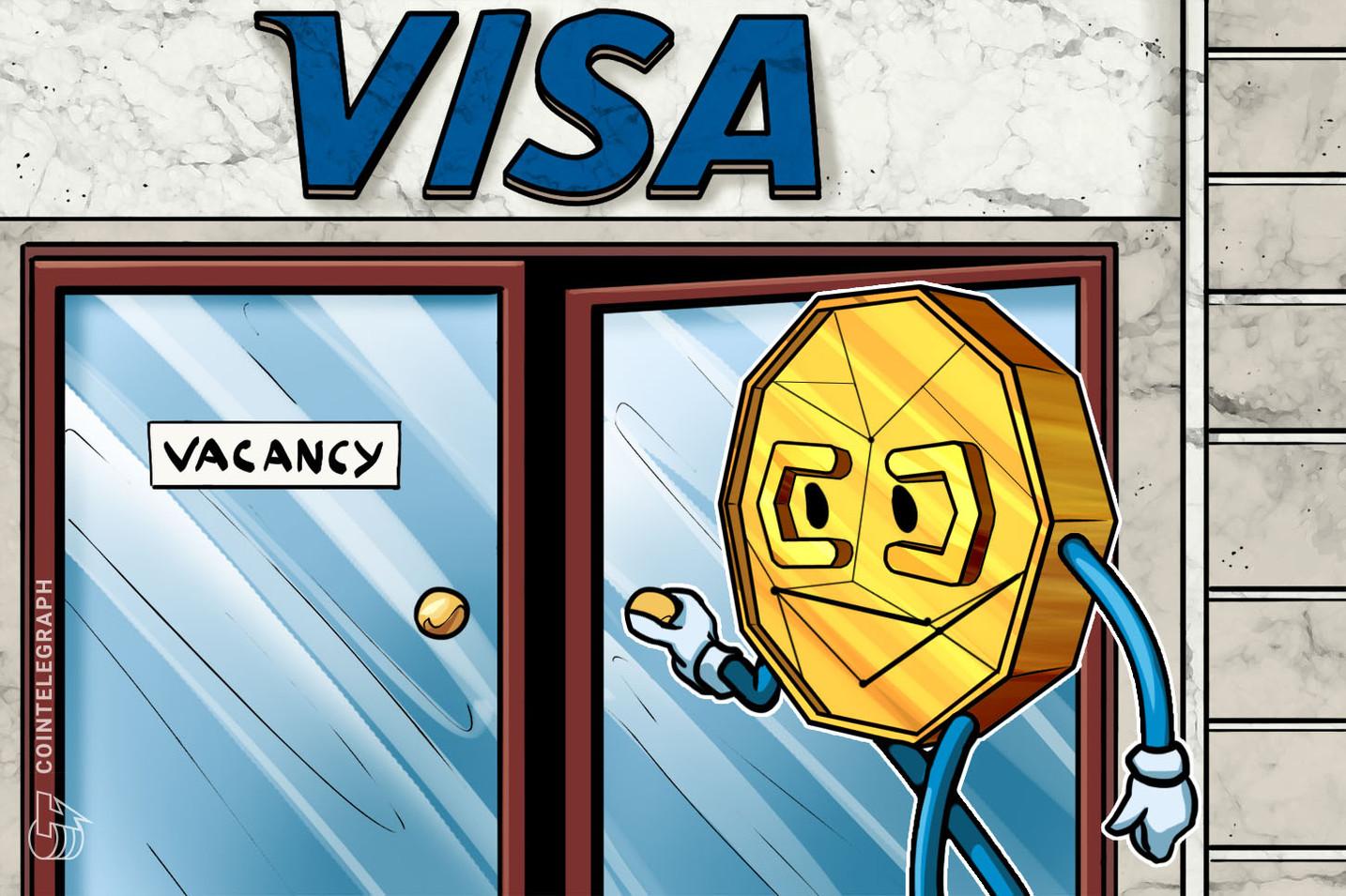 仮想通貨に情熱を持っていますか?VISA 仮想通貨・ブロックチェーン関連の求人を出す