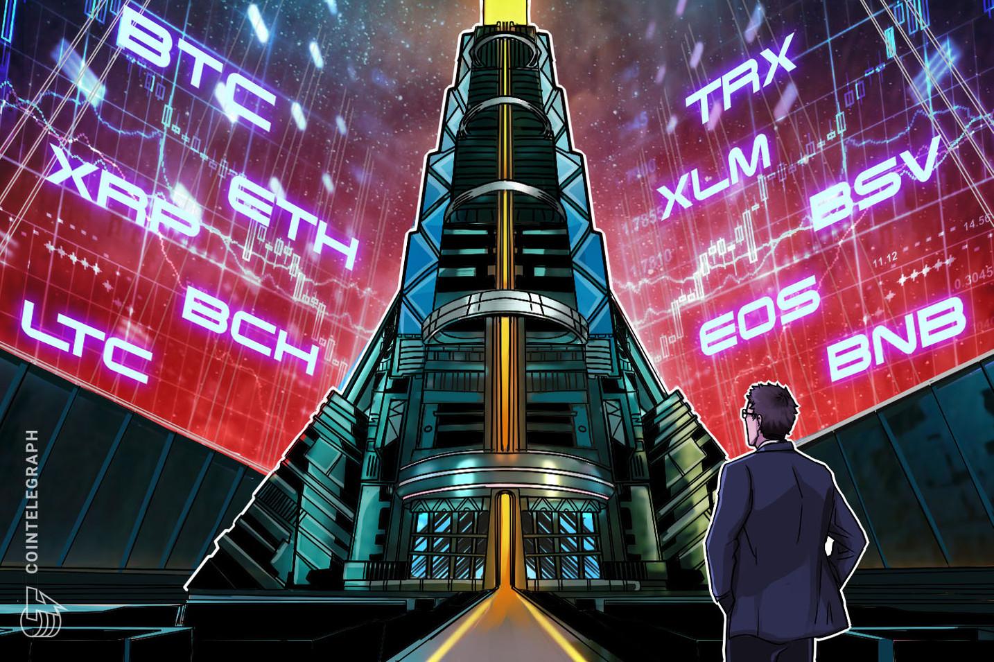 Análise de preços 23/10: BTC, ETH, XRP, BCH, LTC, EOS, BNB, BSV, XLM, TRX