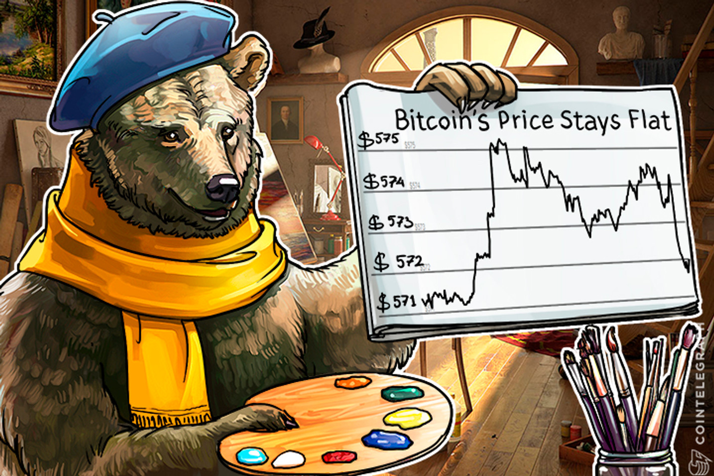 Bitcoin Price Stays Flat as a Consolidation Range Between $565 and $585 Remains Intact