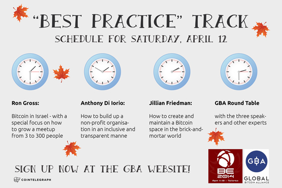 GBA Best Practice Track at the Bitcoin Expo Toronto