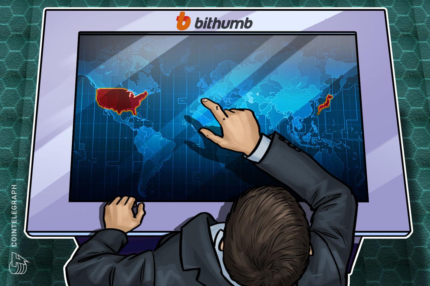 Corea del Sur: El operador del exchange Bithumb revela planes para los mercados de EE.UU. y Japón