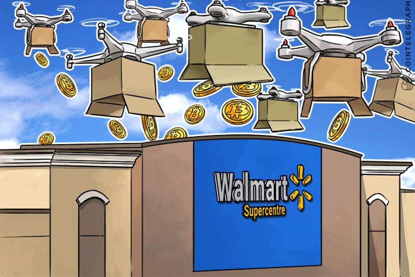 ウォルマートがブロックチェーン技術とドローンを組み合わせた荷物追跡システムに関する特許を出願
