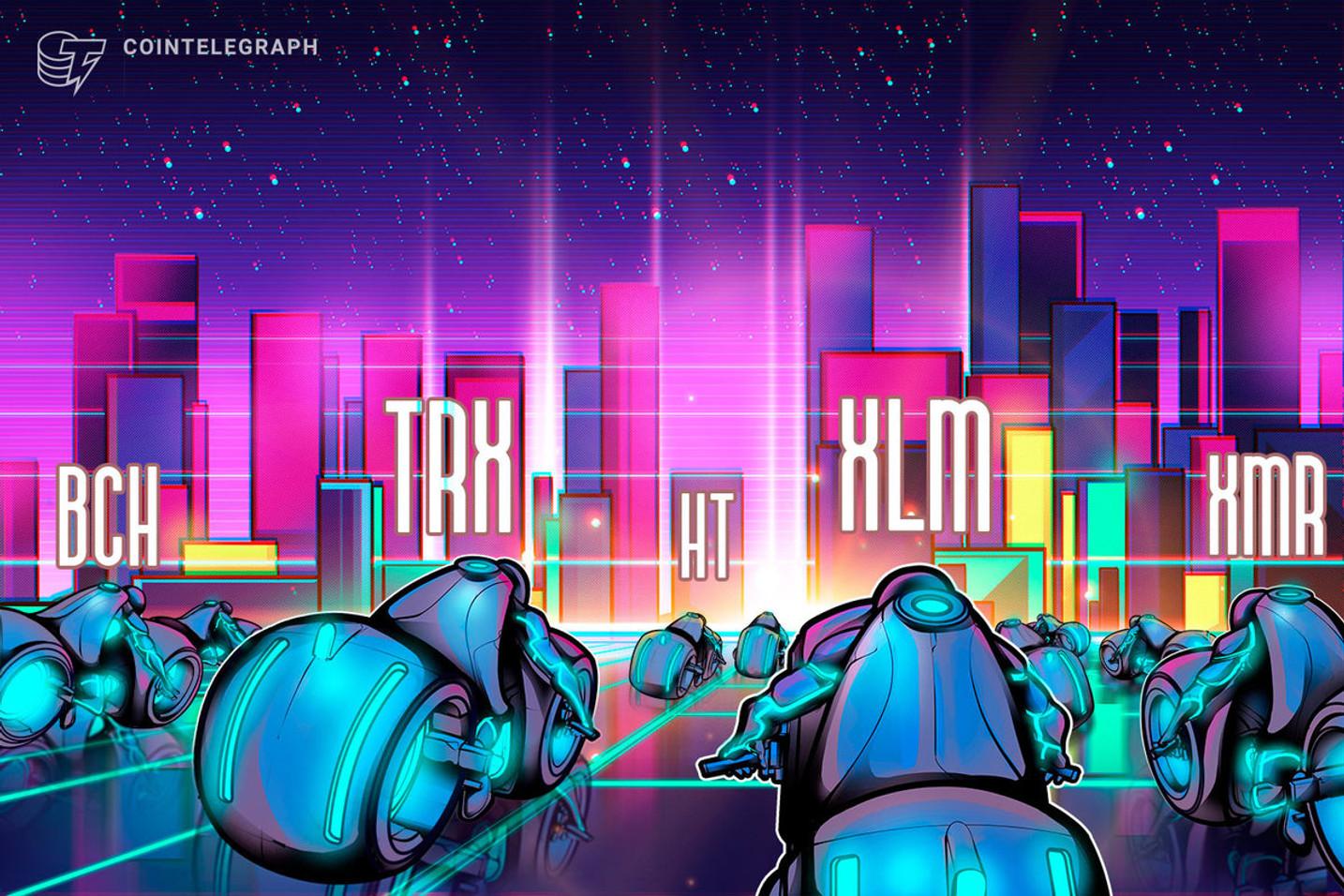 Top-5 Cryptos This Week: TRX, BCH, HT, XLM, XMR