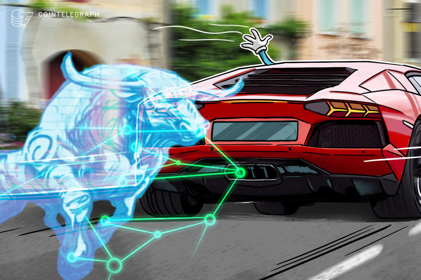 Salesforce Blockchain Certifies First Ever Artwork-Painted Lamborghini