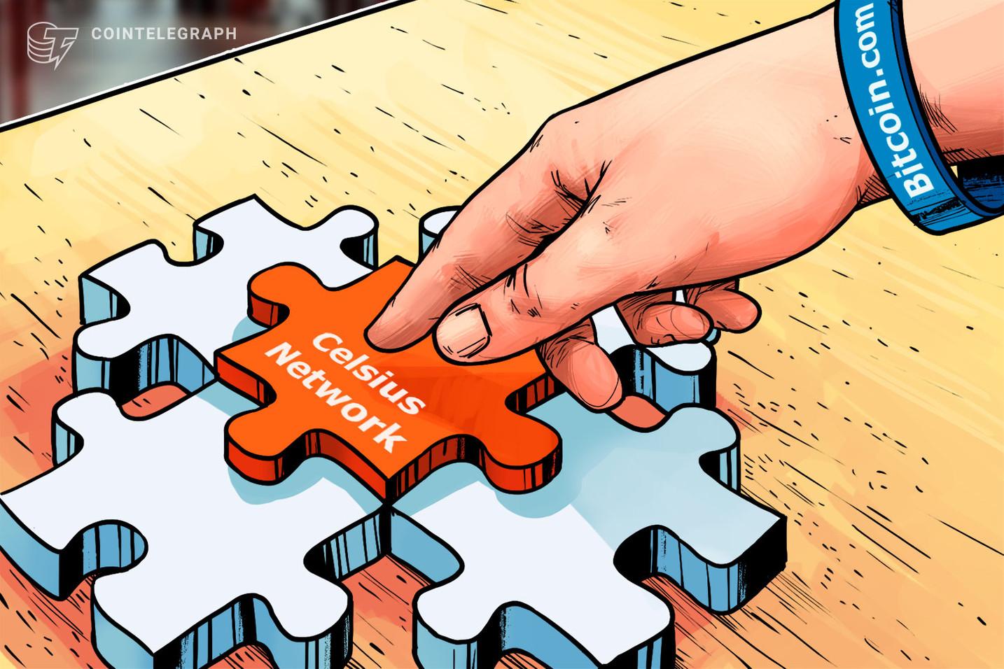 Celsius Network incorpora la plataforma Bitcoin.com para agilizar los servicios