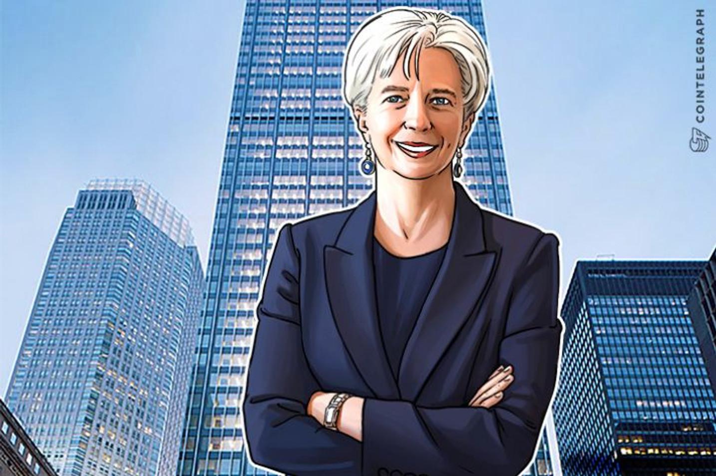IMFのクリスティーヌ・ラガルド専務理事が、銀行は5年後には仮想通貨を導入しているだろうと発言