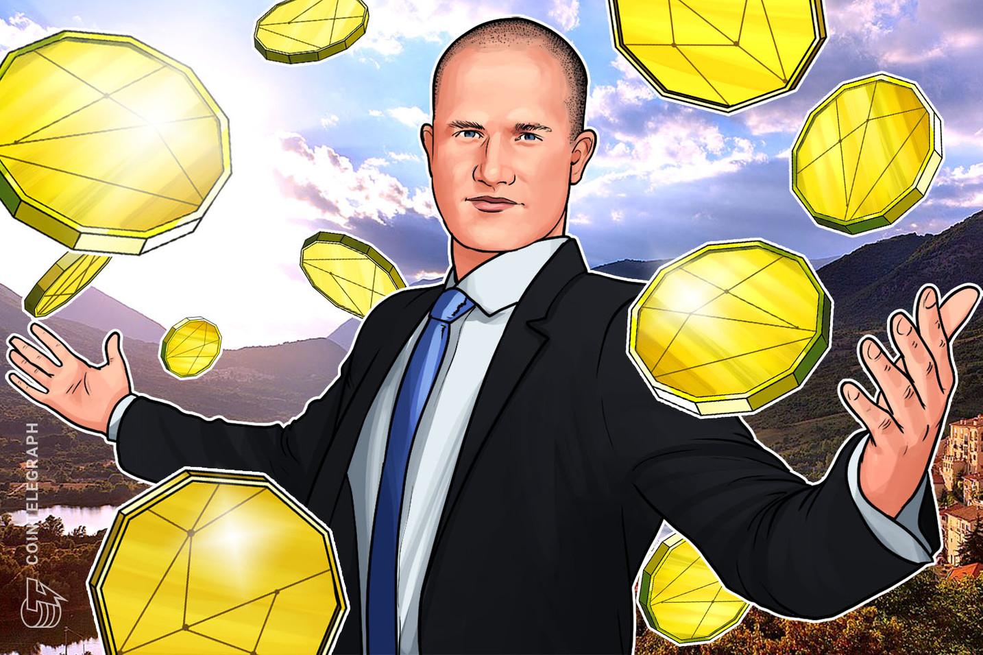 Brian Armstrong: la custodia de Coinbase tiene USD 1 mil millones de criptos bajo administración