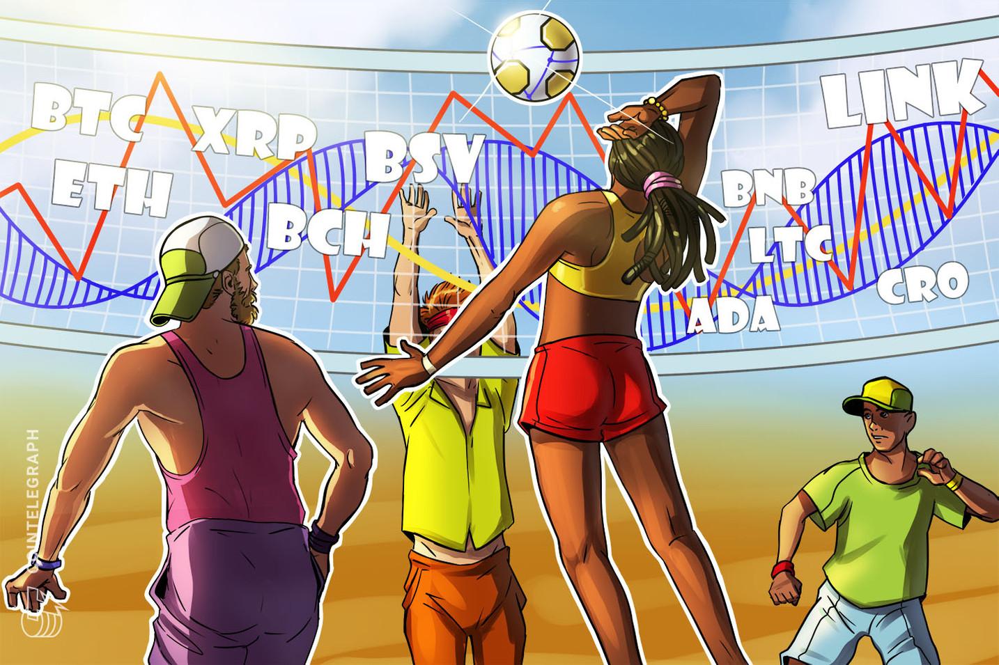 Price Analysis 7/20: BTC, ETH, XRP, BCH, BSV, ADA, LTC, BNB, LINK, CRO